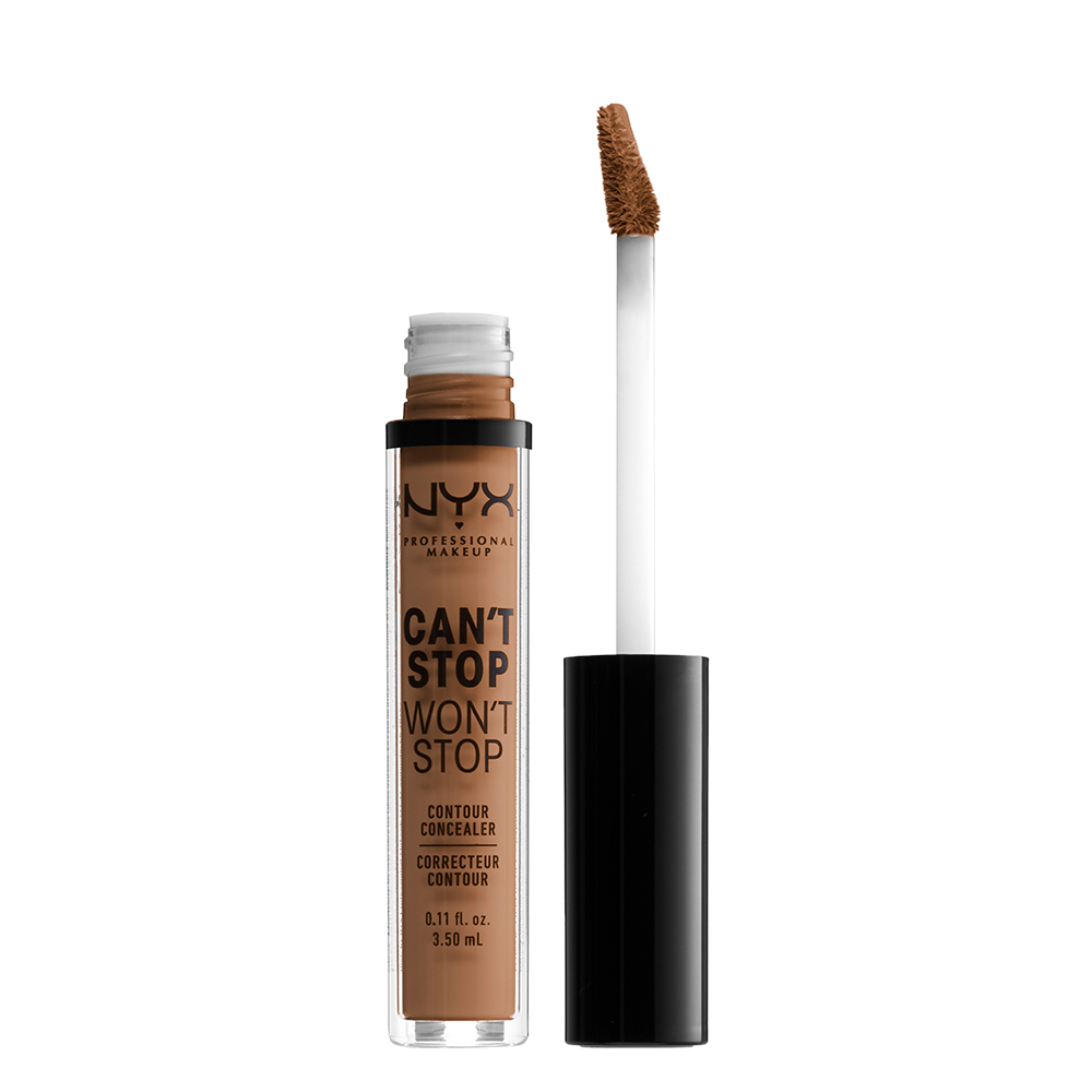 NYX Professional Makeup Cant Stop Wont Stop 24-Hours Concealer, mahogany