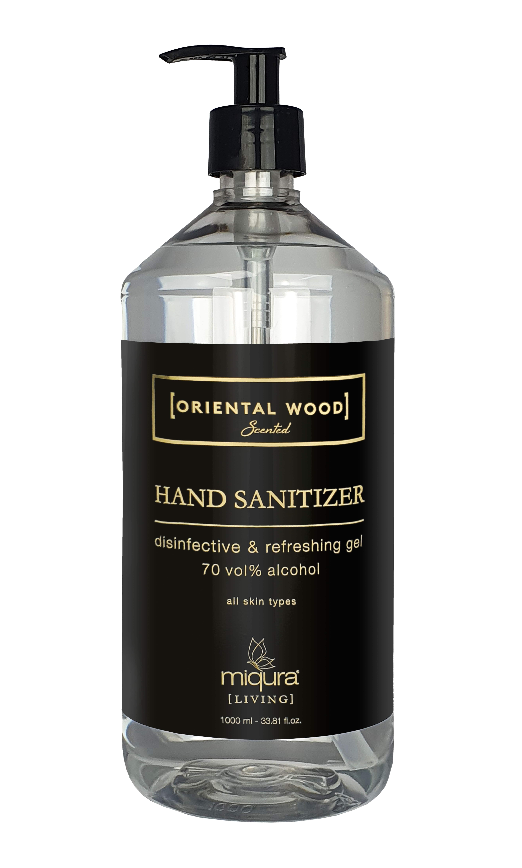 Miqura Living Oriental Wood Hand Sanitizer, 1000 ml