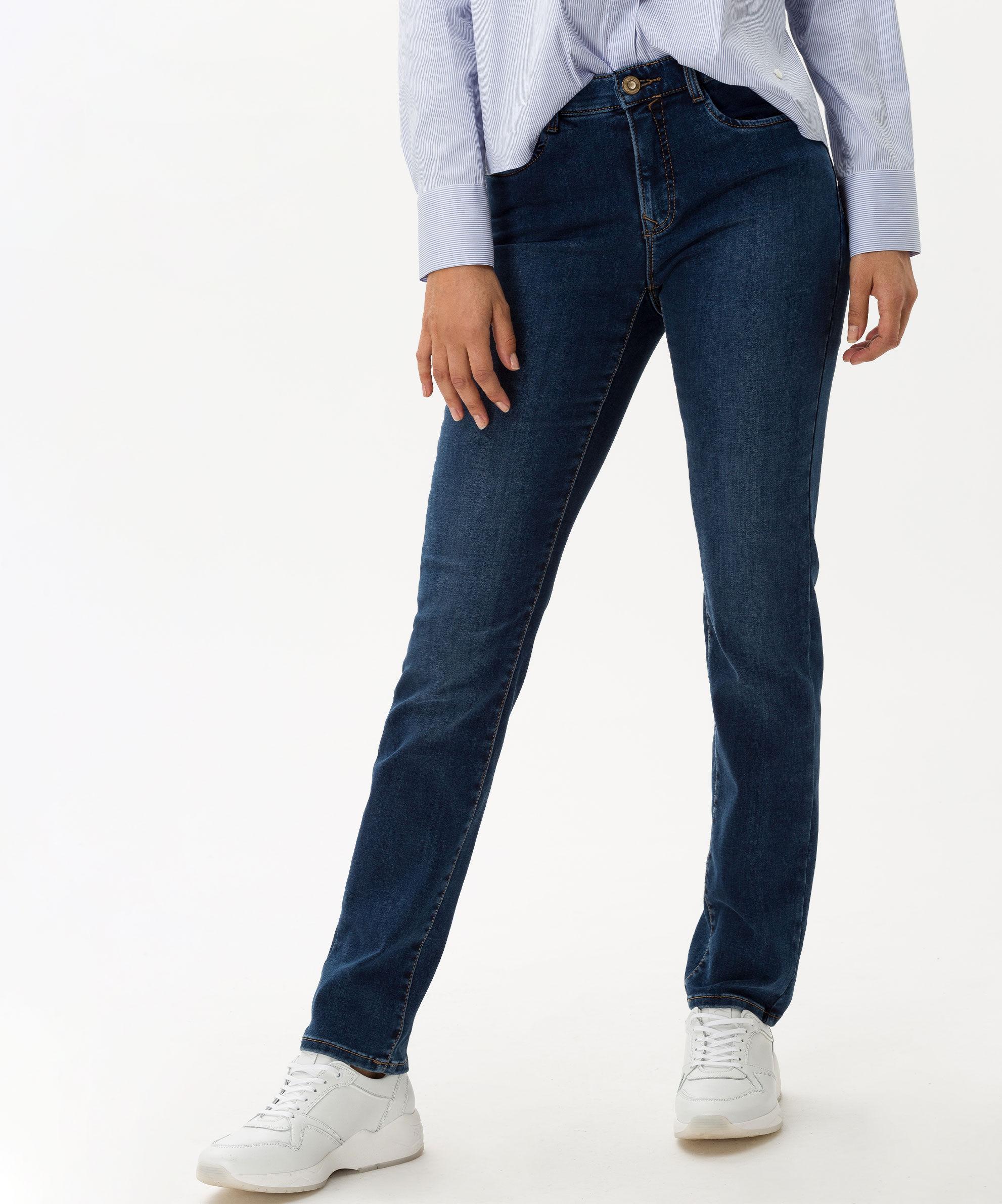 BRAX Mary jeans, Used Dark Blue, 46 Kort