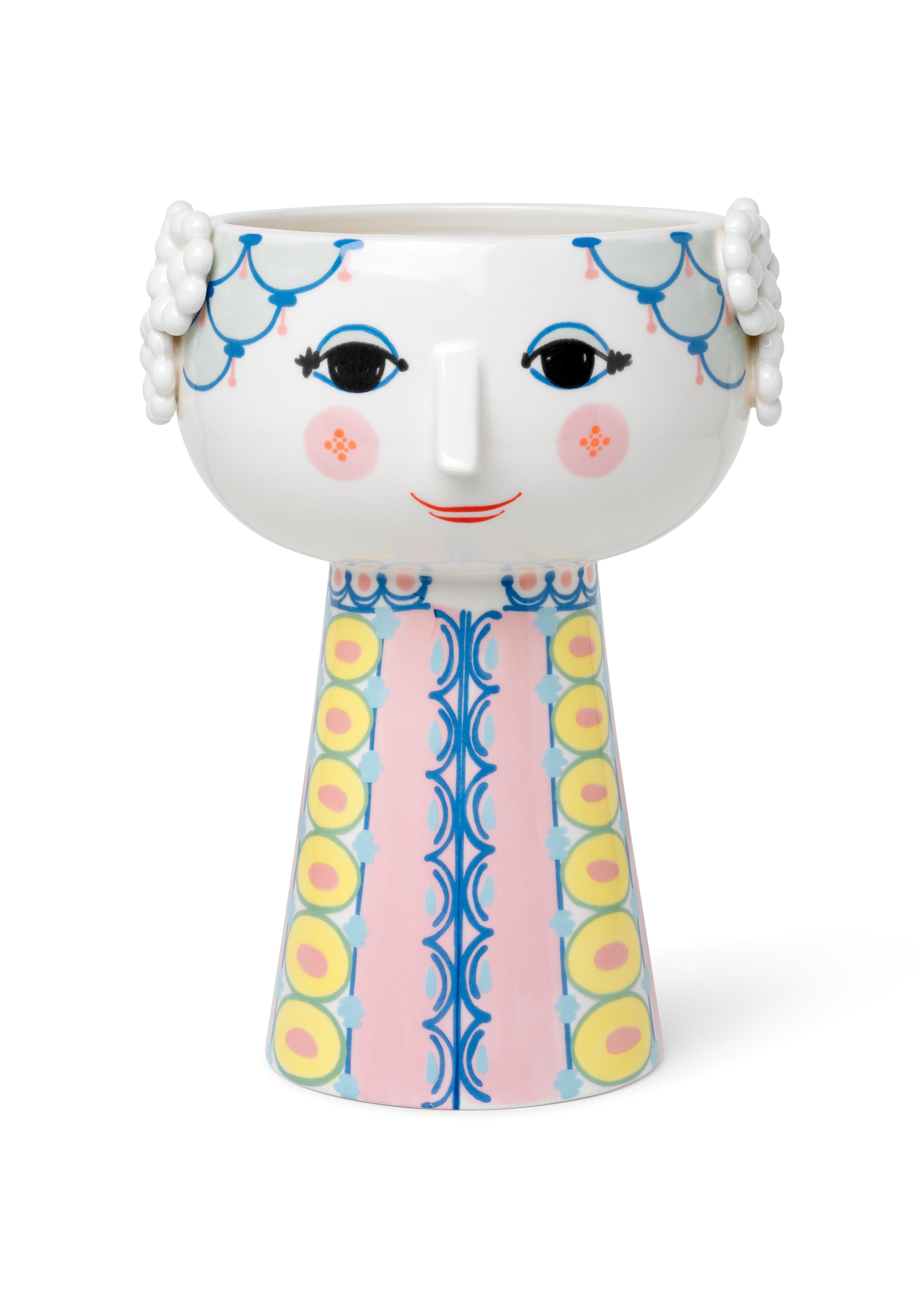 Bjørn Wiinblad Eva vase, 23 cm, pink