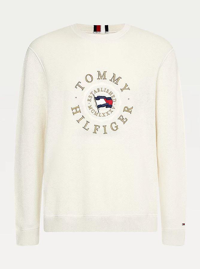 Tommy Hilfiger Structured Logo sweatshirt, ivory, large