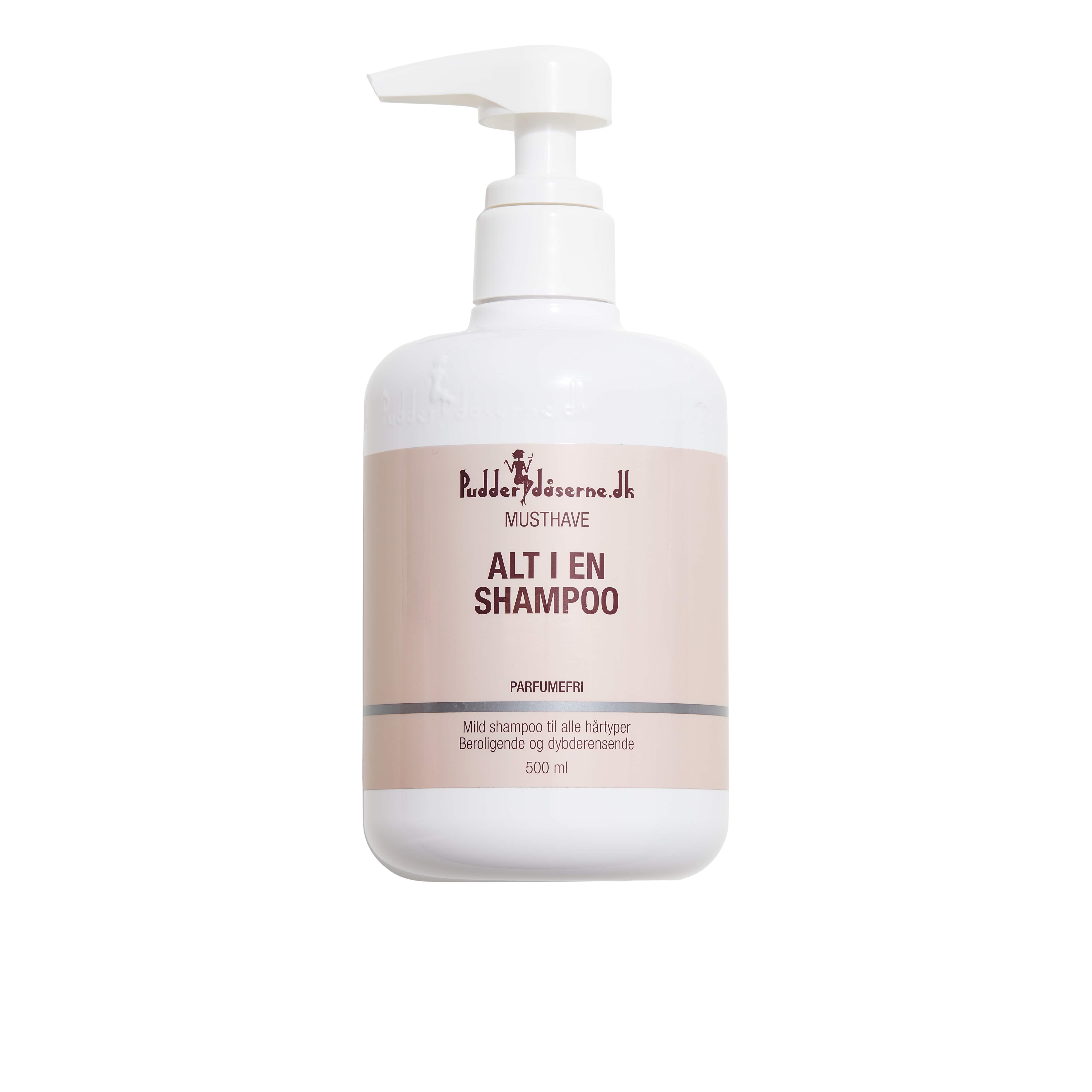 Pudderdåserne Alt i en Shampoo, 500 ml