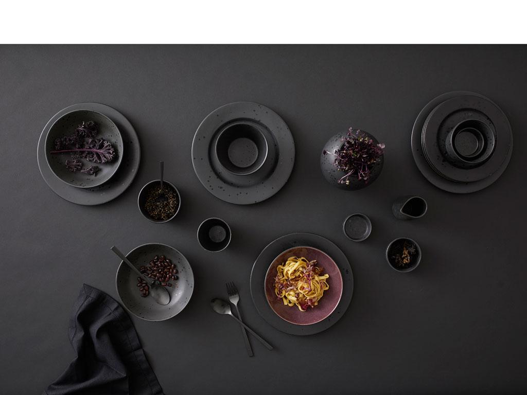 Bitz pastaskål, Ø20 cm, sort/lilla