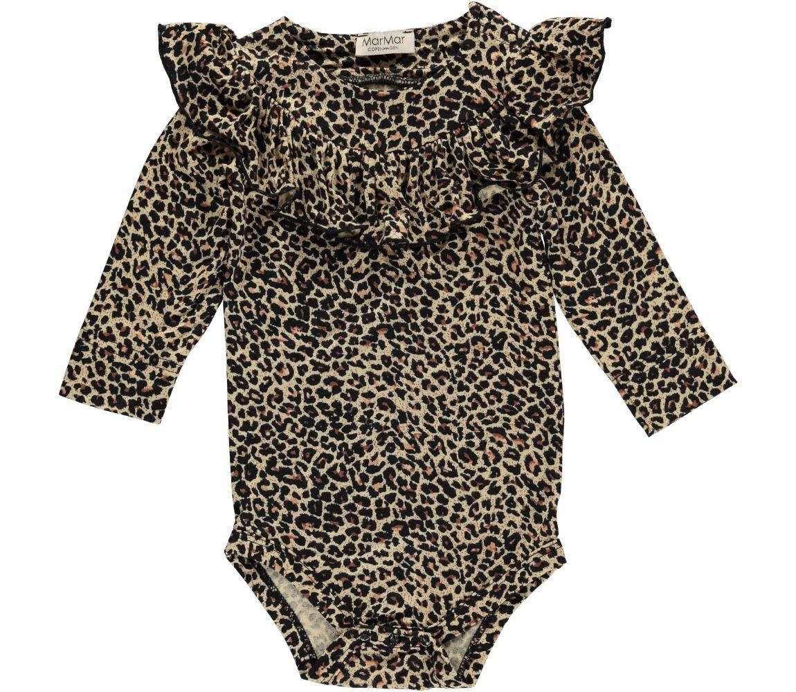 MarMar LS Bibbi body, brun leopard, 68