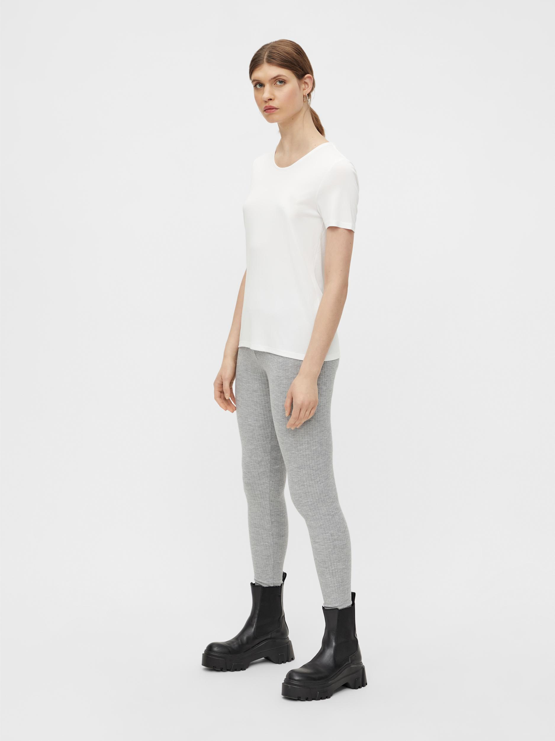 Pieces Ribbi HW leggings, Light Grey Melange, XS