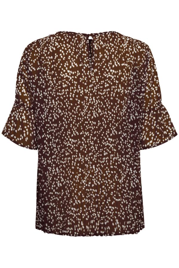 InWear prikket bluse, coffee brown windy dot, 40