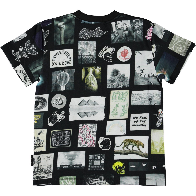 Molo Roxo SS t-shirt, Scrapbook black, 128