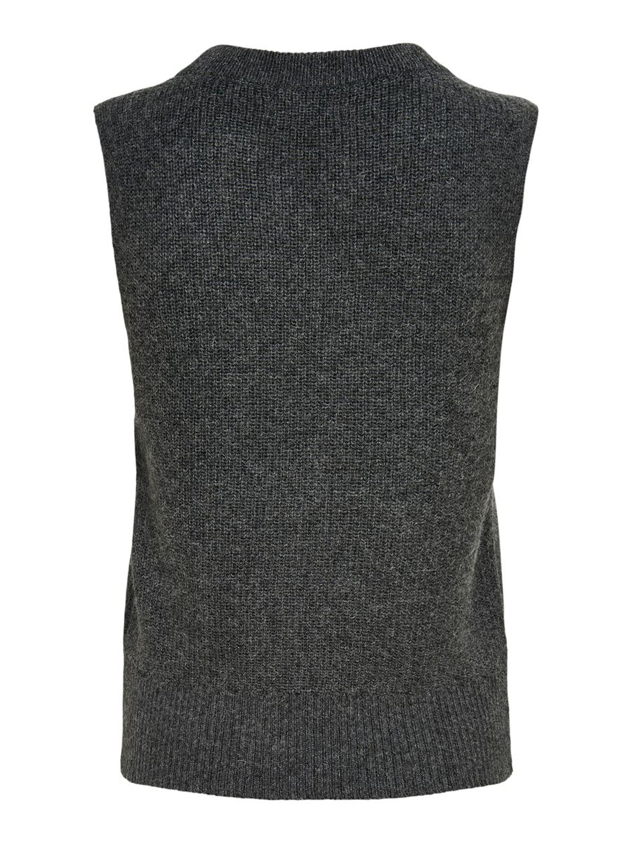 Only Paris strik vest, dark grey melange, small