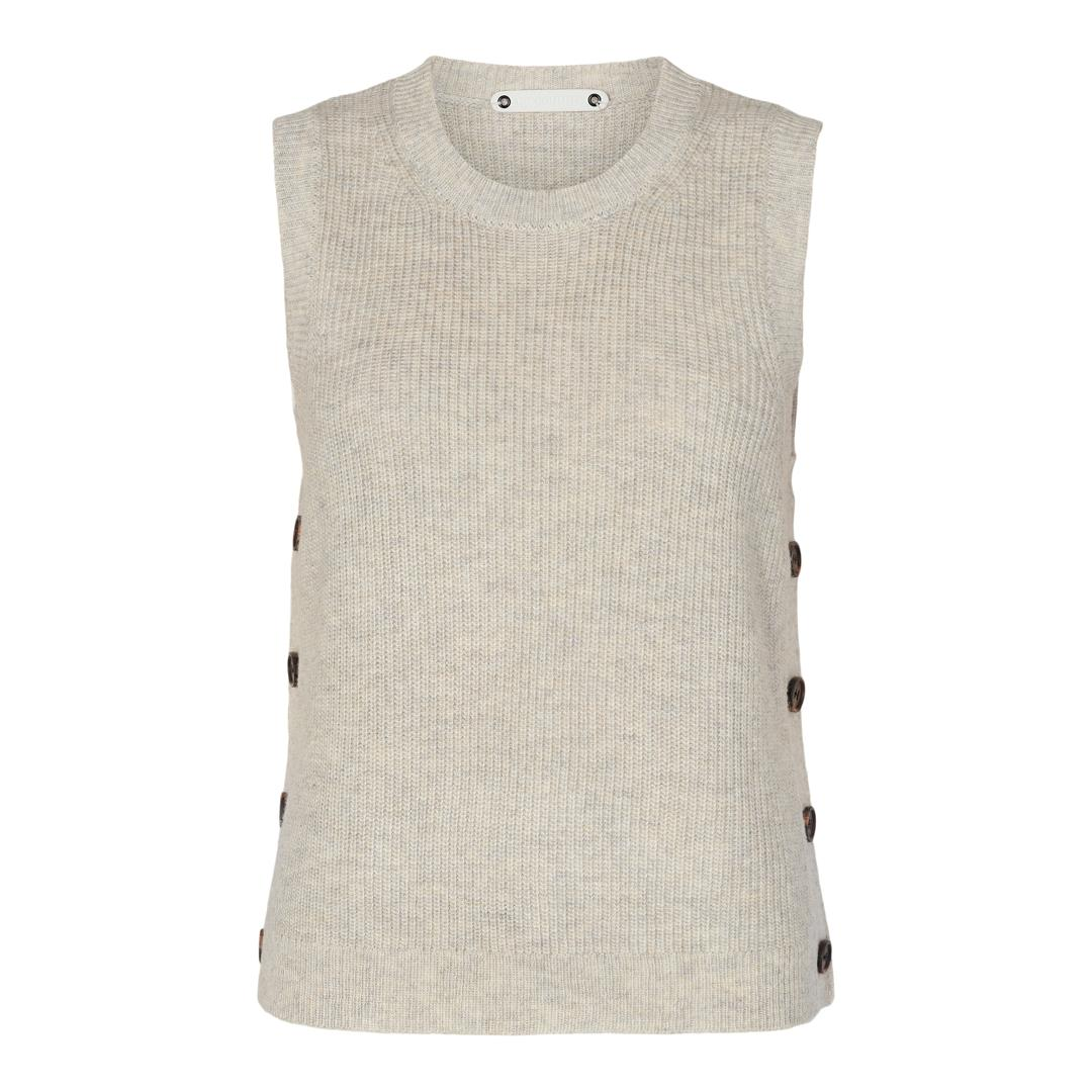 Co'Couture Malou Button vest, bone, medium