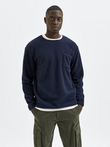 Selected Homme Derek Sweatshirt, Navy Blazer, M