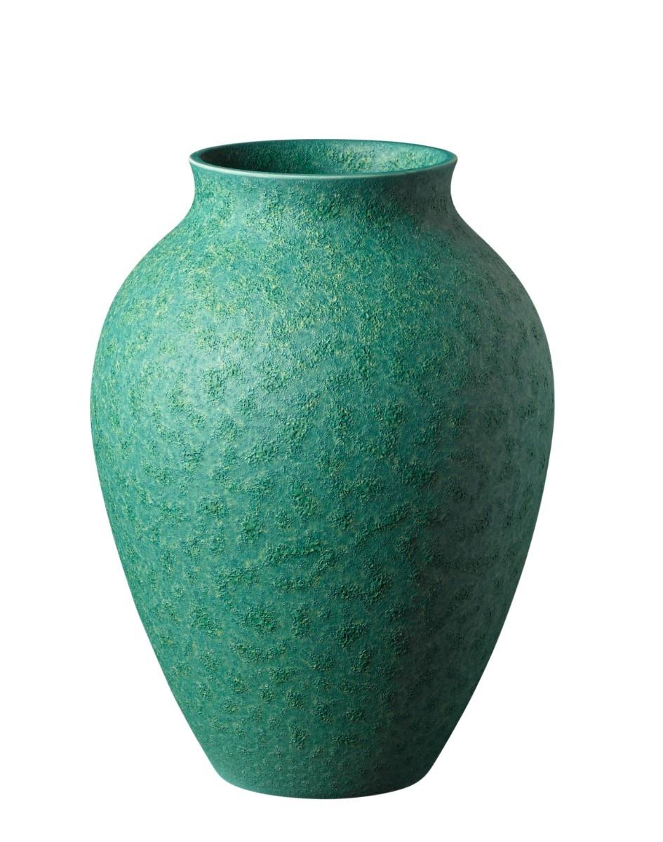 Knabstrup vase, 20 cm, irgrøn