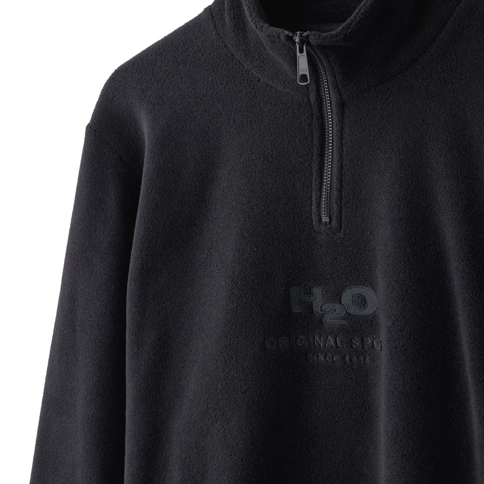 H2O Blåvand half zip fleece, black, xx-large