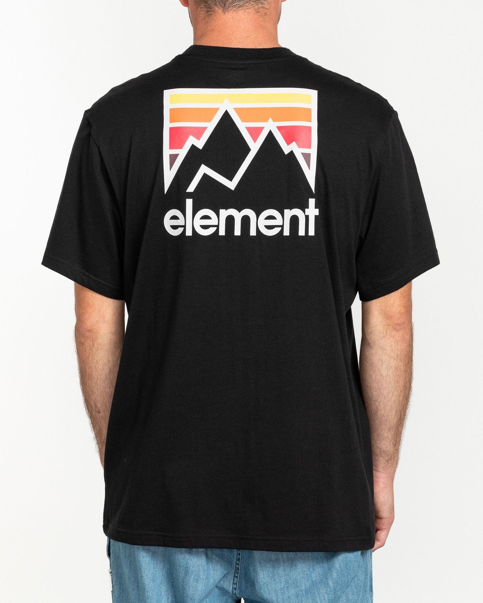 Element Joint t-shirt, flint black, small