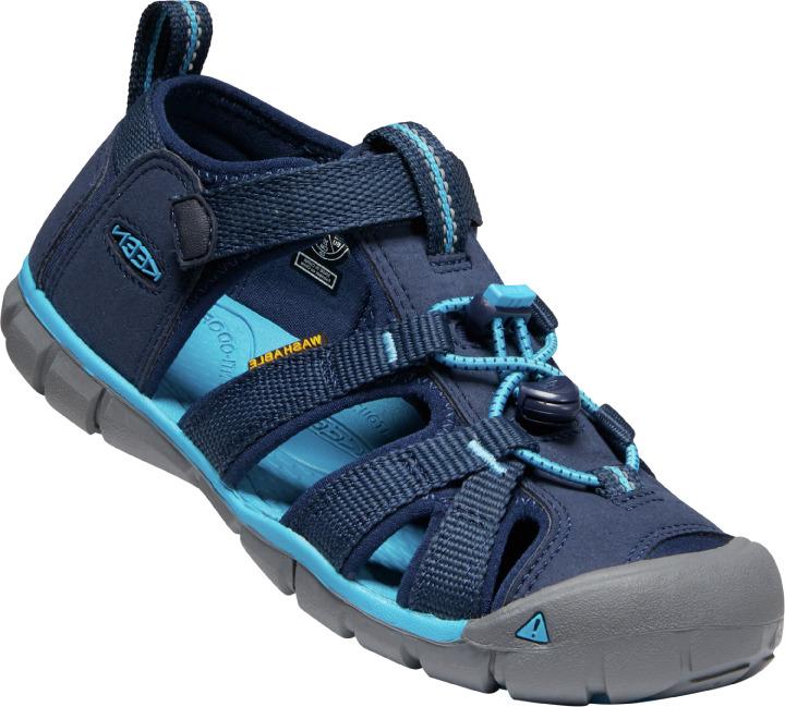 Keen Seacamp II CNX sandal, black iris/vivid blue, 25/26