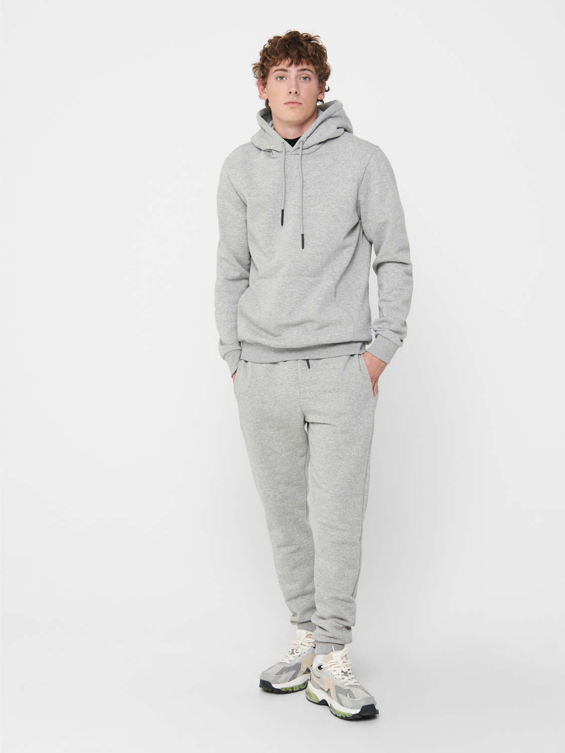 Only & Sons Ceres Life hoodie, light grey melange, xx-large