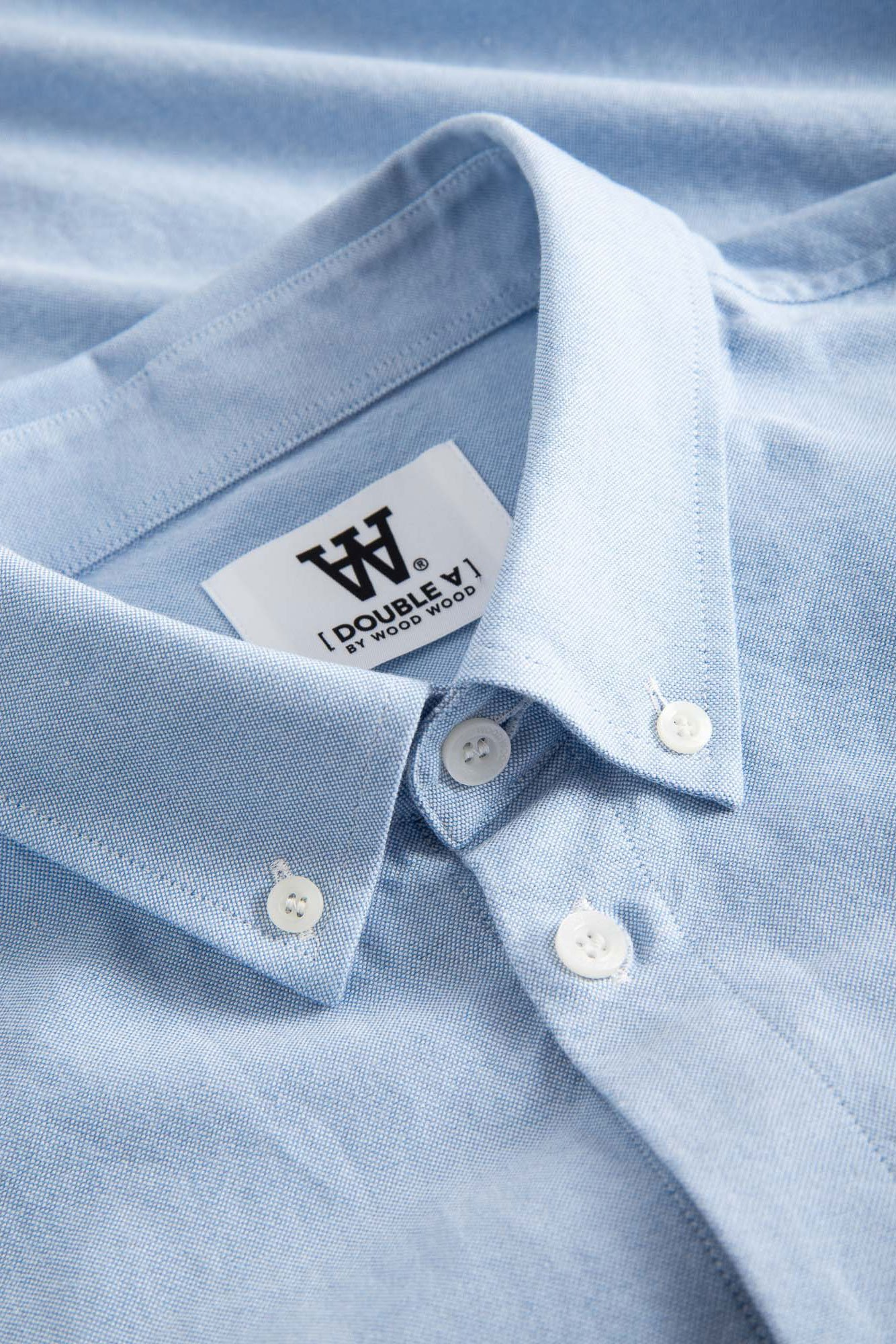 Wood Wood Ted skjorte, light blue, large