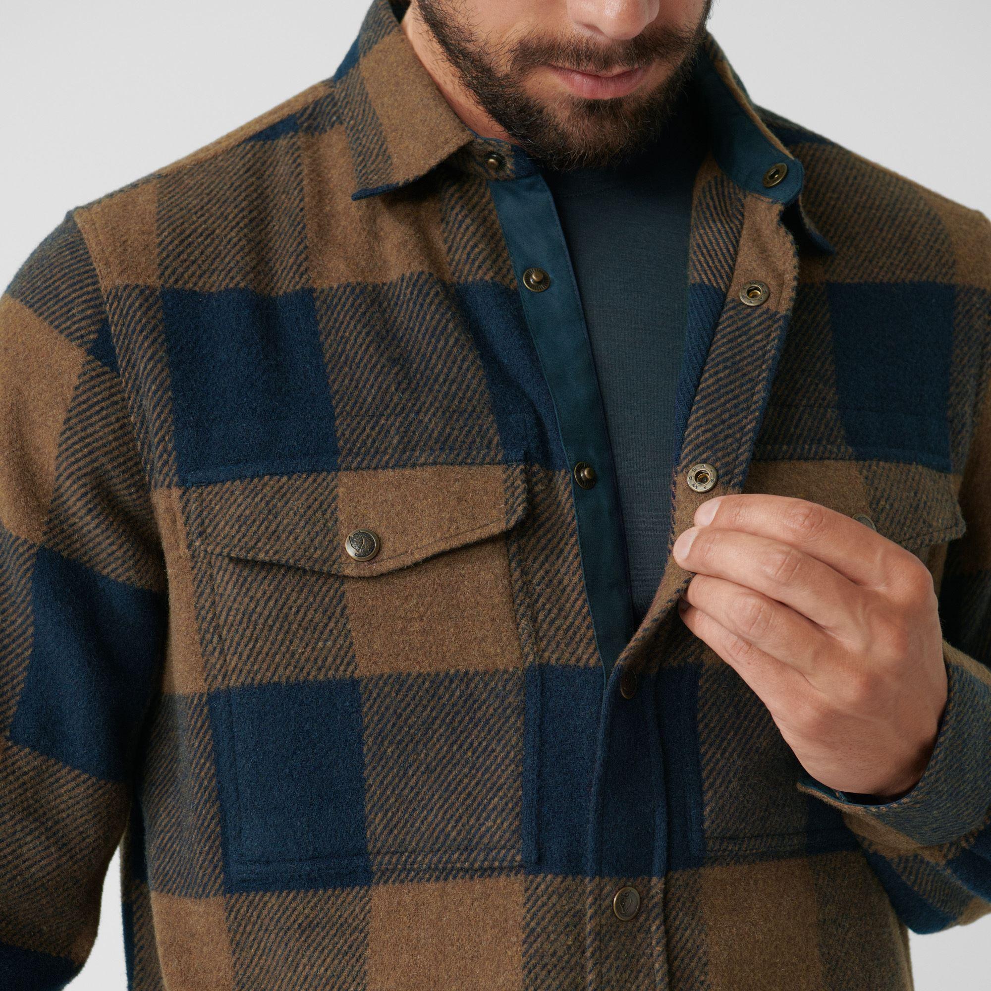 Fjällräven Canada skjorte, chestnut/dark navy, small