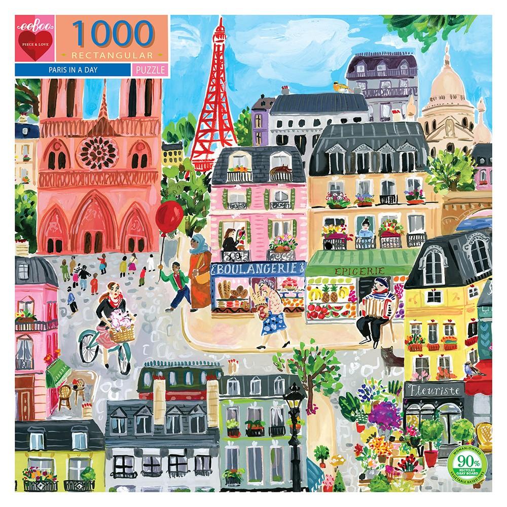 eeBoo puslespil, Paris, 1000 brikker