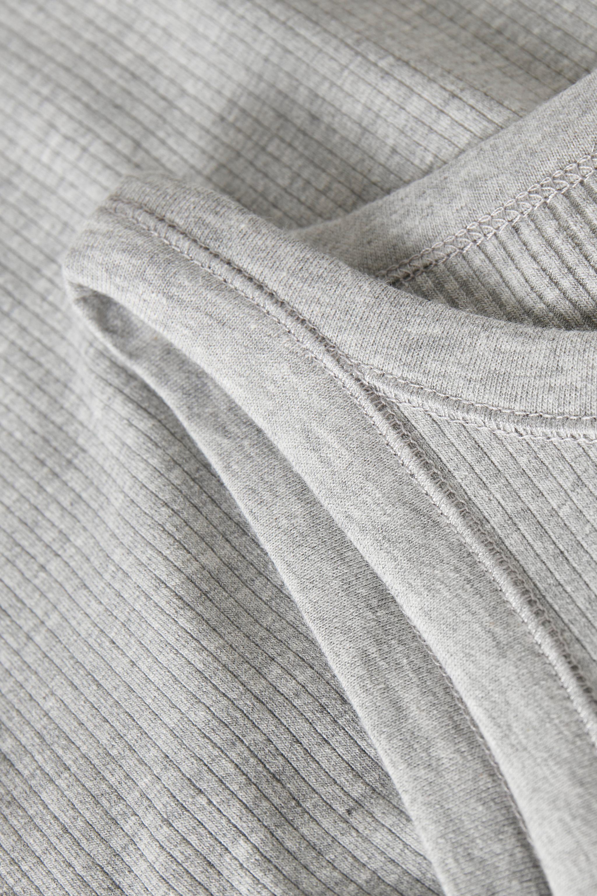 Gestuz RollaGZ top, light grey melange, large