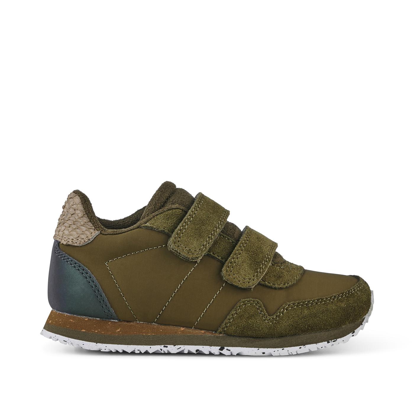 Woden Nor Suede sneakers, Dark Olive, 32