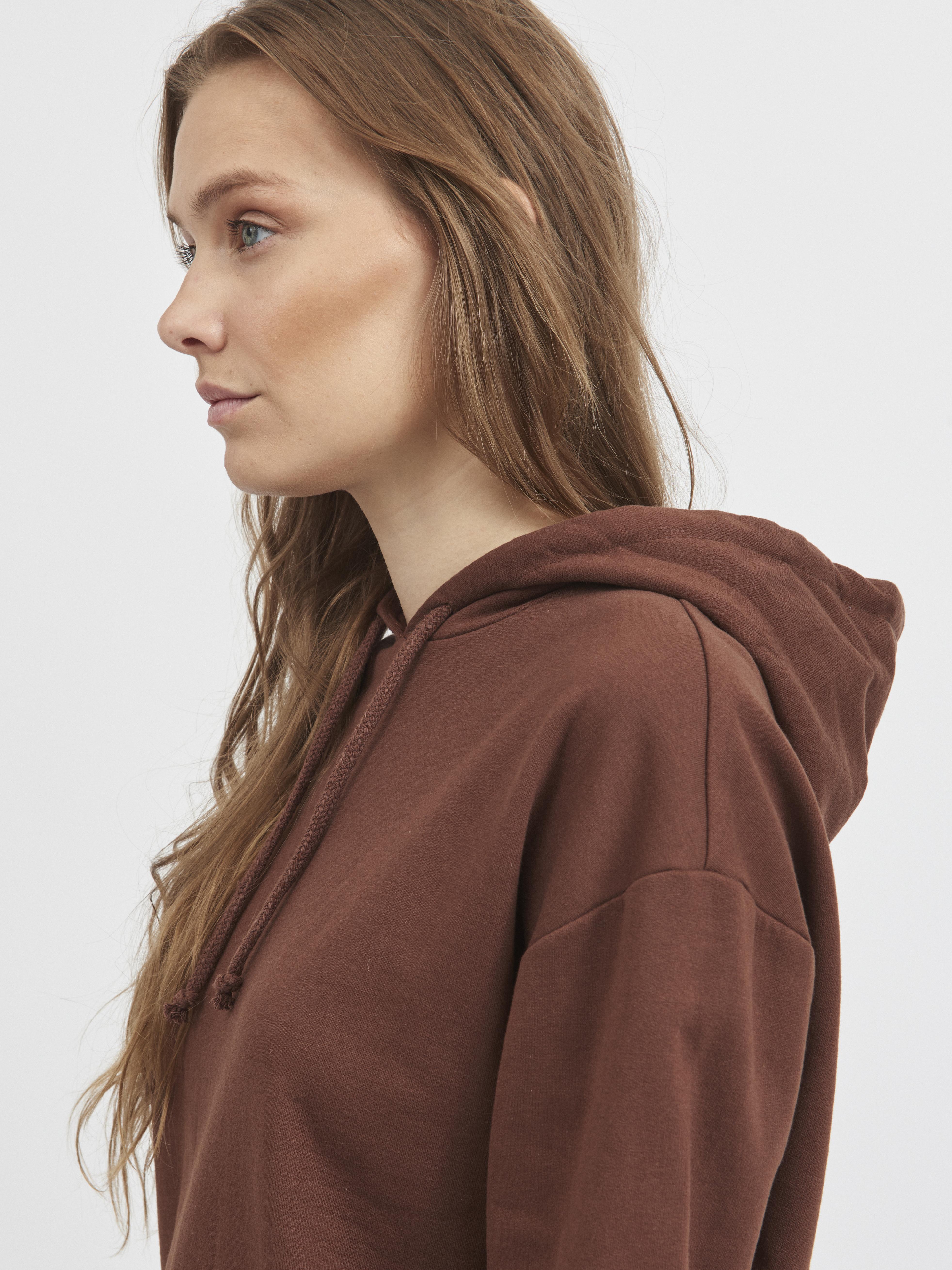 VILA Hoodie, Chocolate Lab, XL