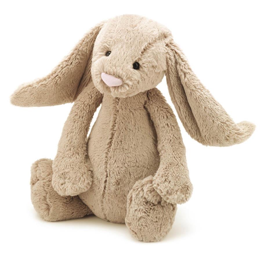 Jellycat, Bashful kanin, 67 cm, beige