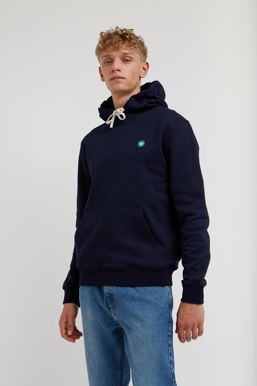 Wood Wood Double A Ian hoodie, navy, small