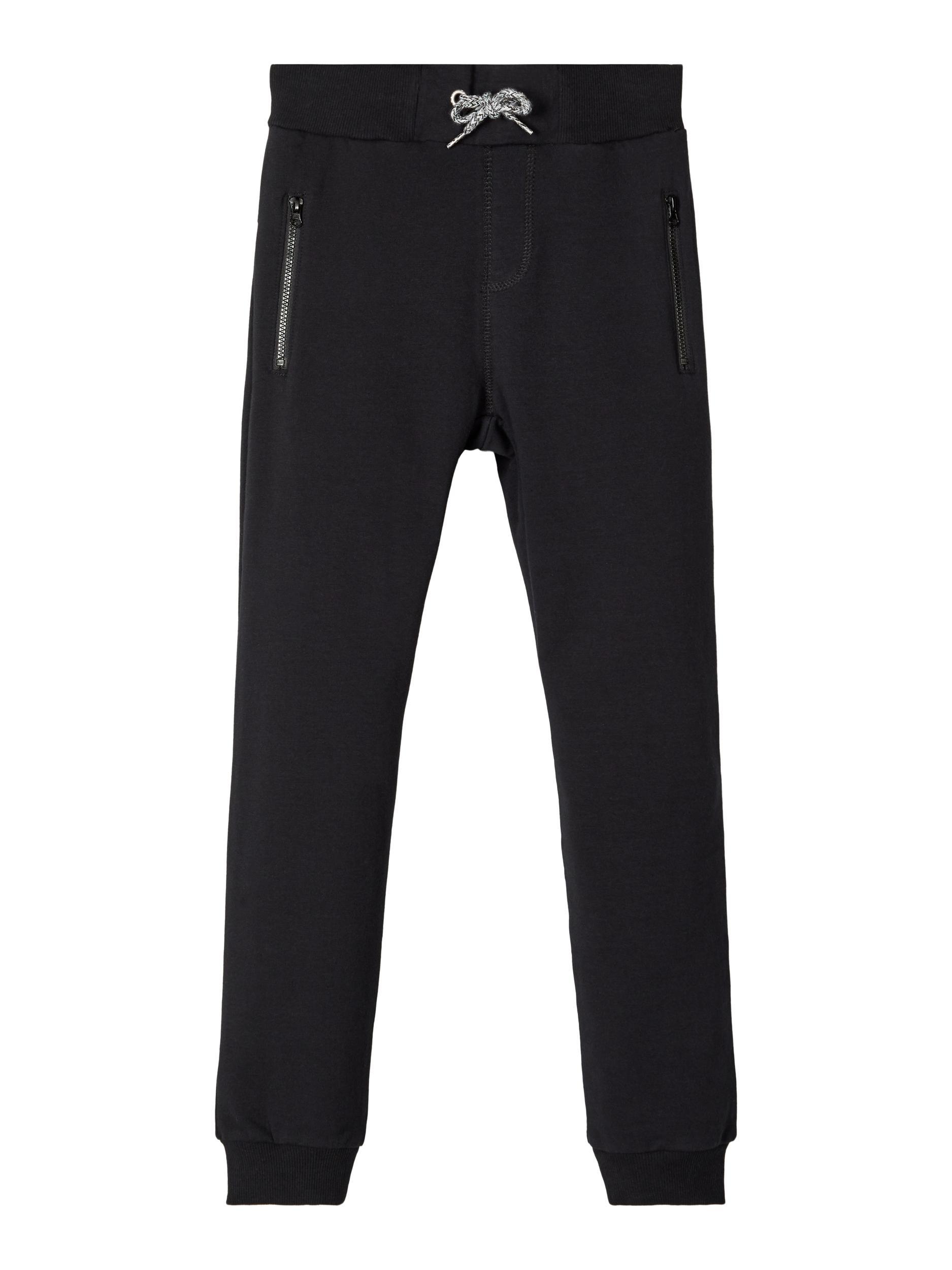 Name It Ensfarvede sweatpants, black, 86