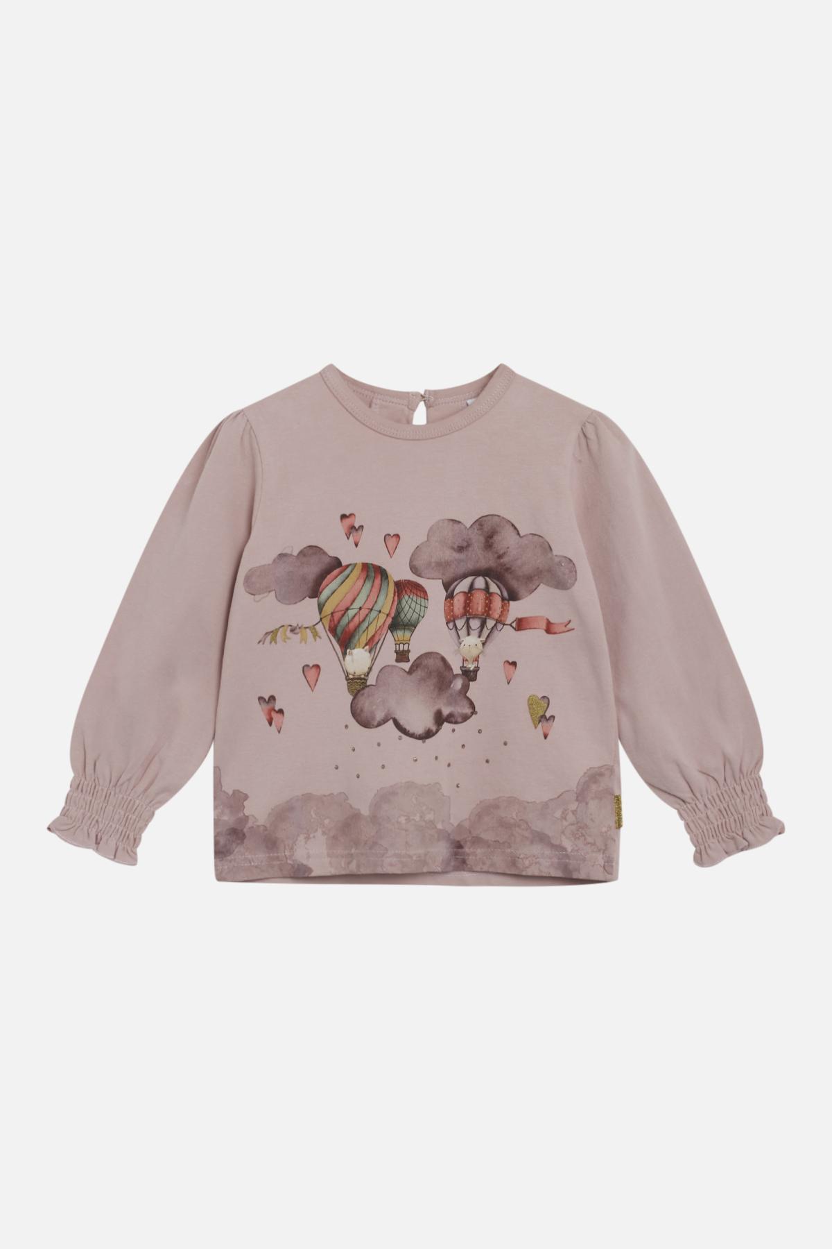 Hust & Claire Adelena T-shirt, Dusty Rose, 3 år
