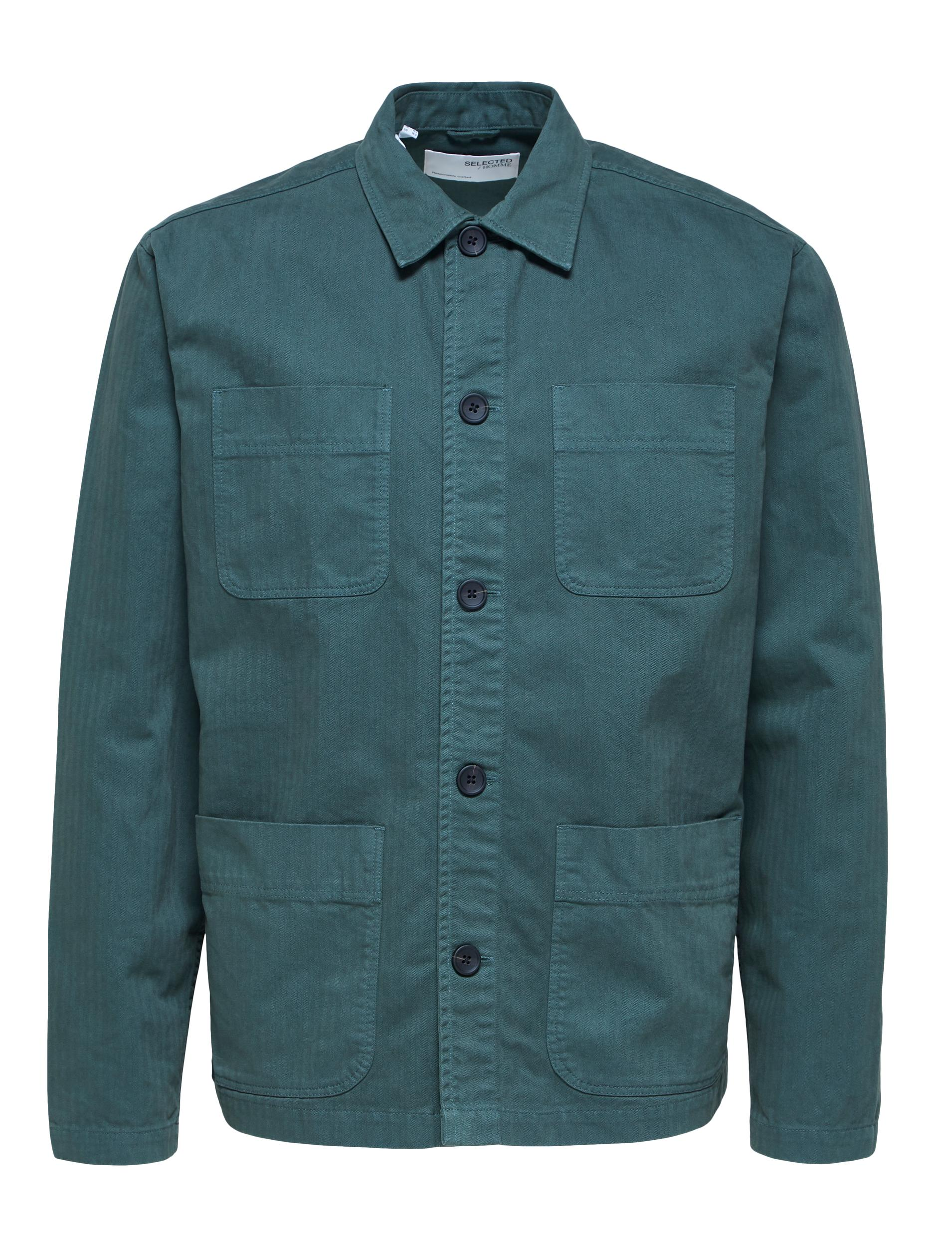 Selected Homme Loose Tony overshirt, darkest spruce, large