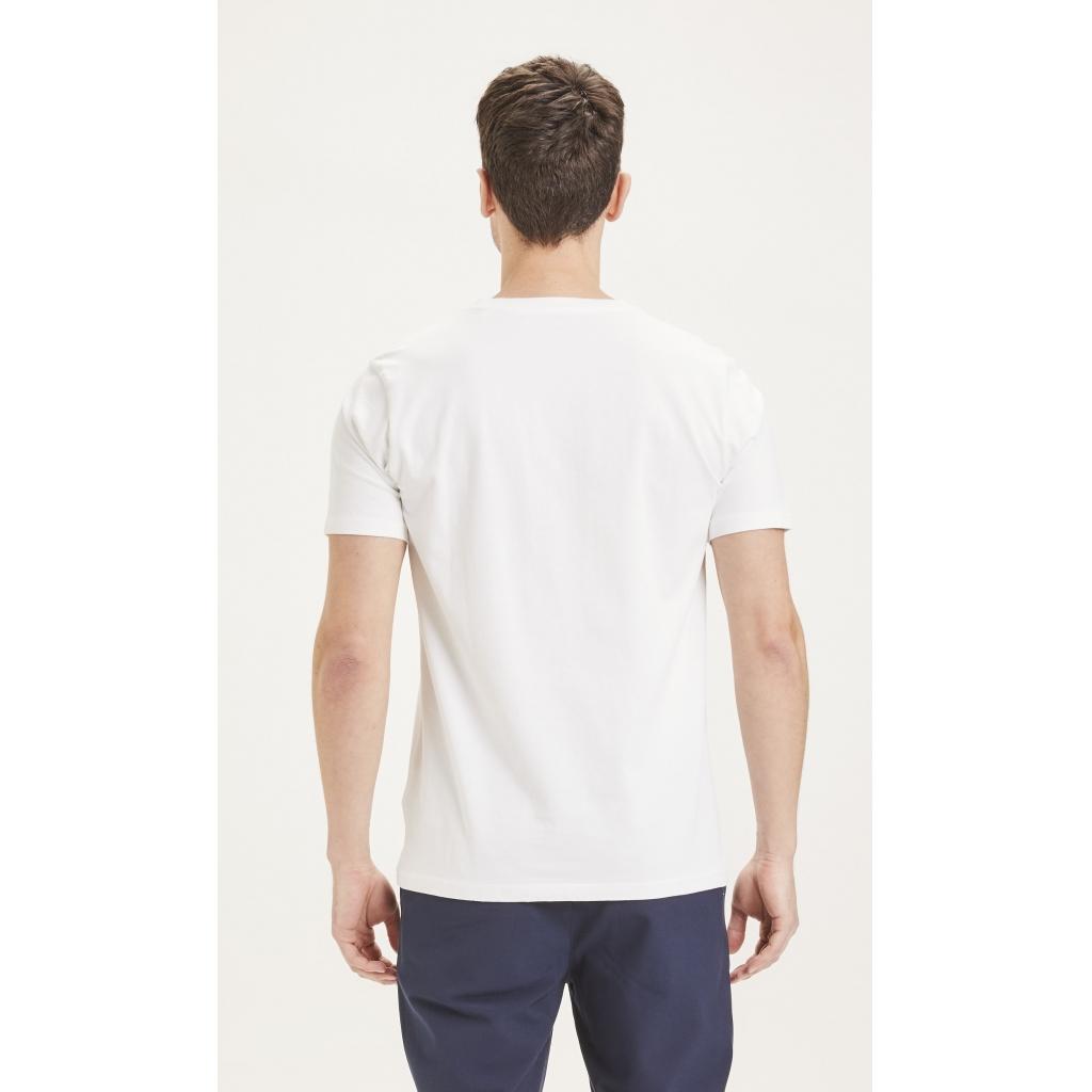 Knowledge Cotton Apparel Alder badge t-shirt, bright white, small
