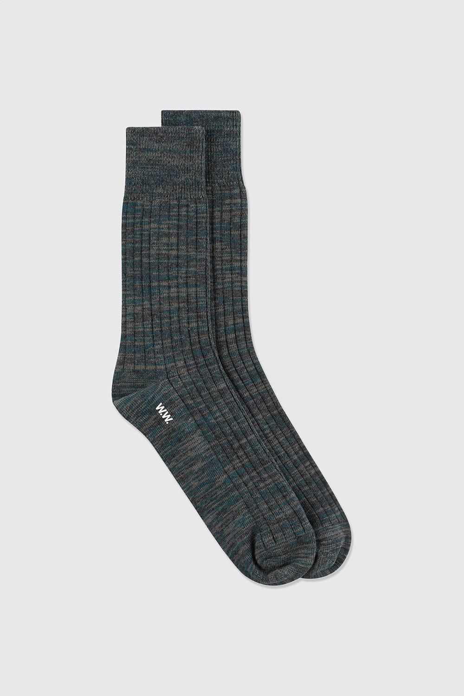 Wood Wood Jerry Twist sokker, dark emerald, 43/45