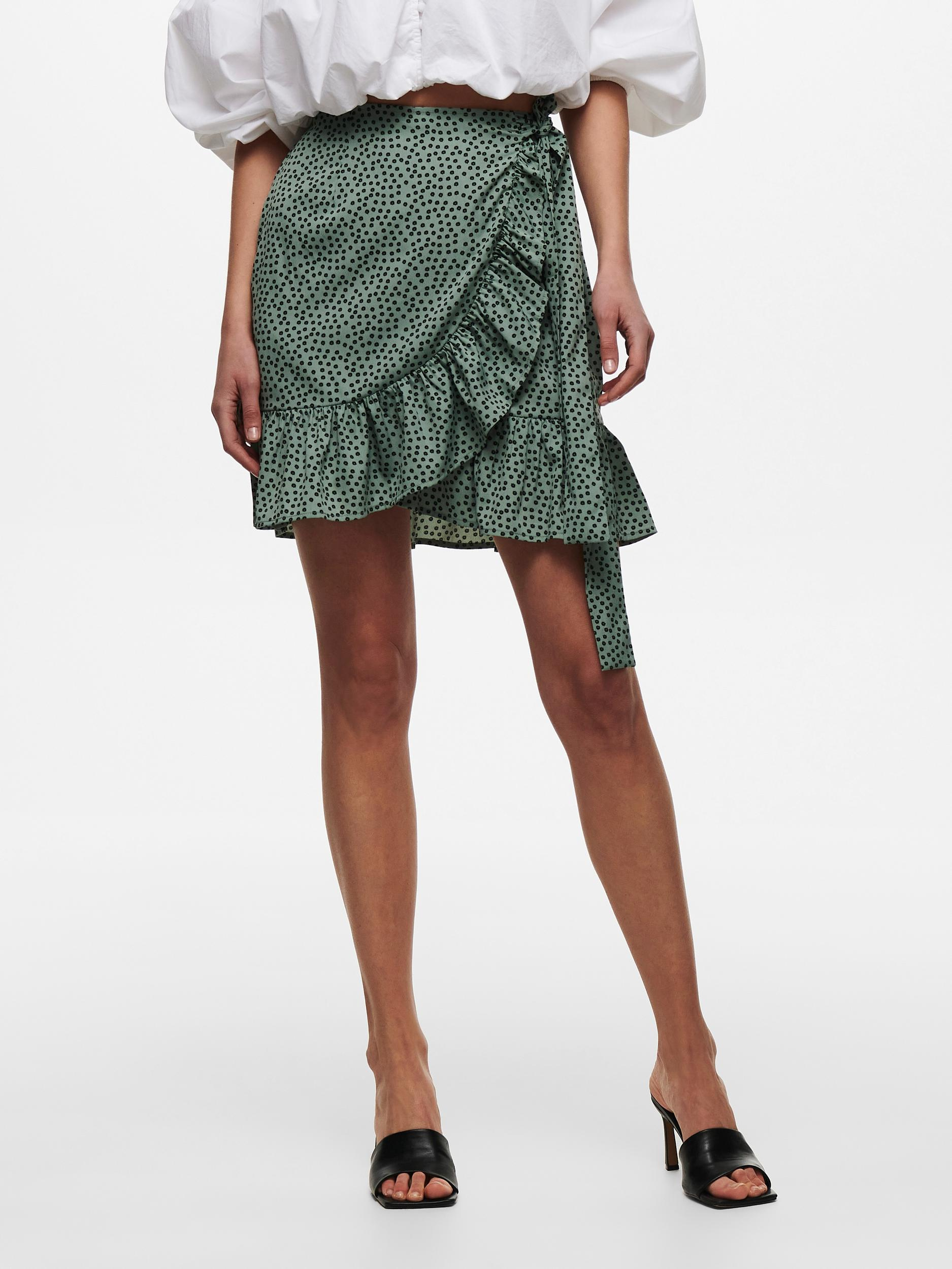 Only Olivia Wrap nederdel, chinois green, x-large