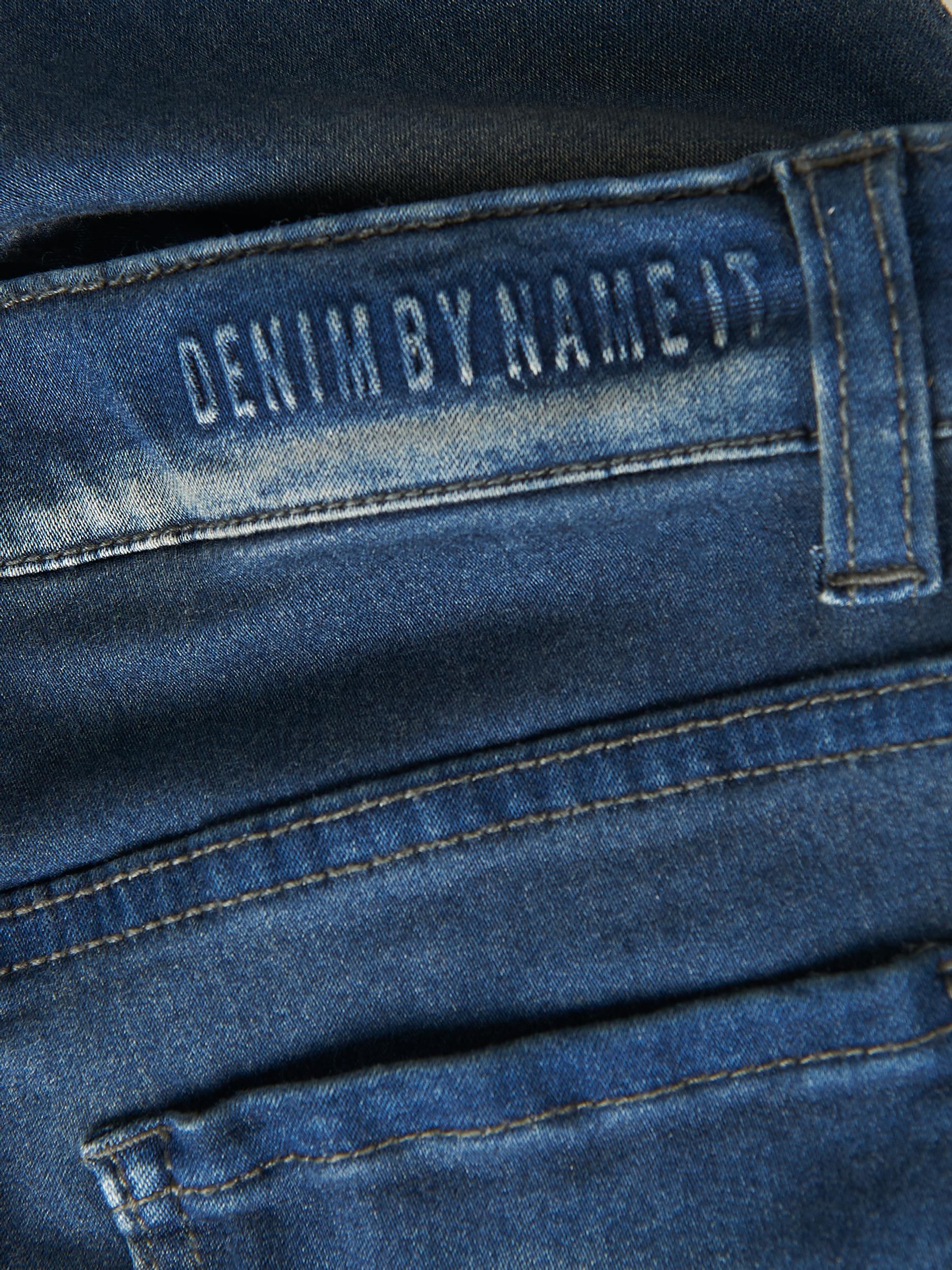 Name It Theo Tags jeans, dark blue denim, 122