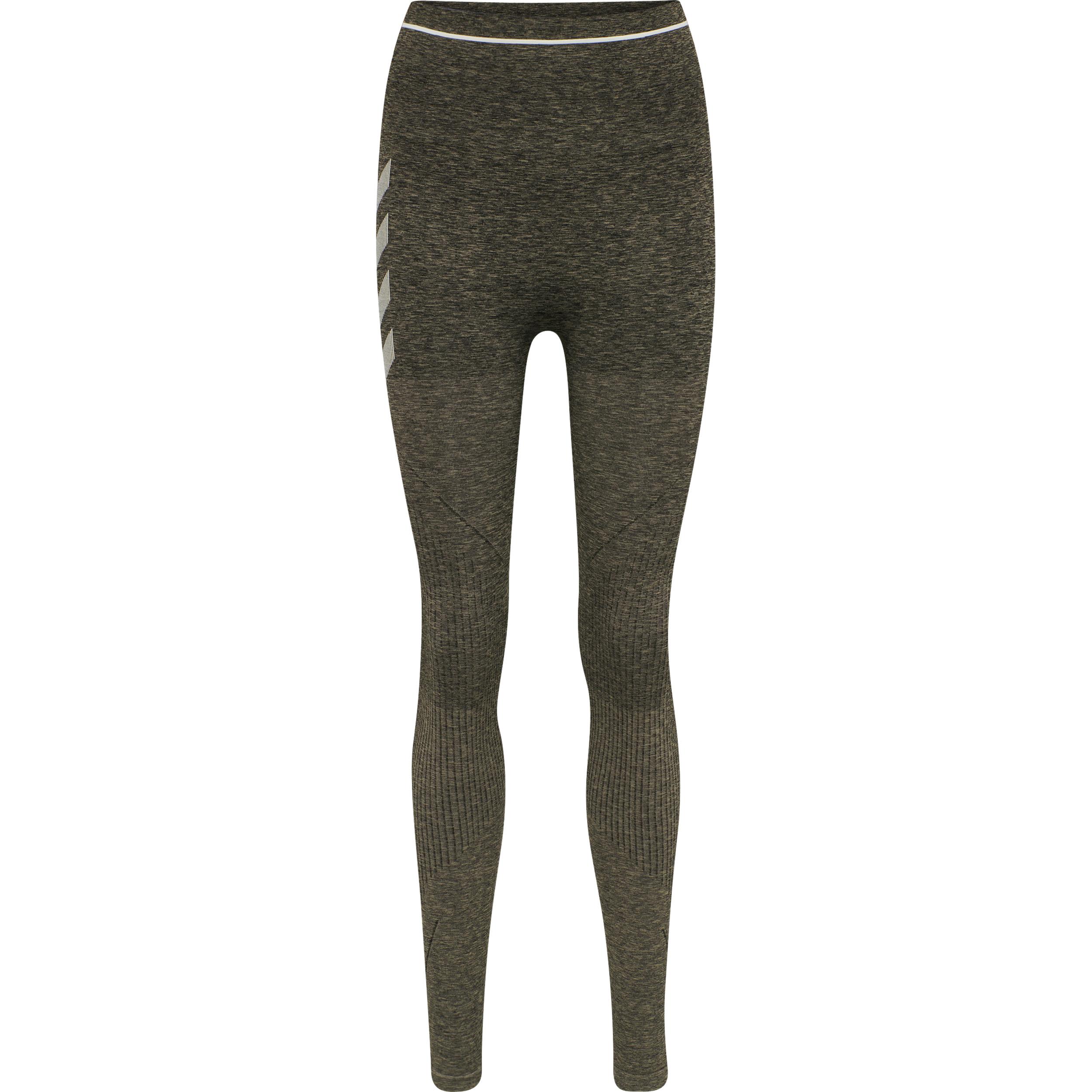Hummel Hana Seamless High Waist tights, vetiver melange, medium