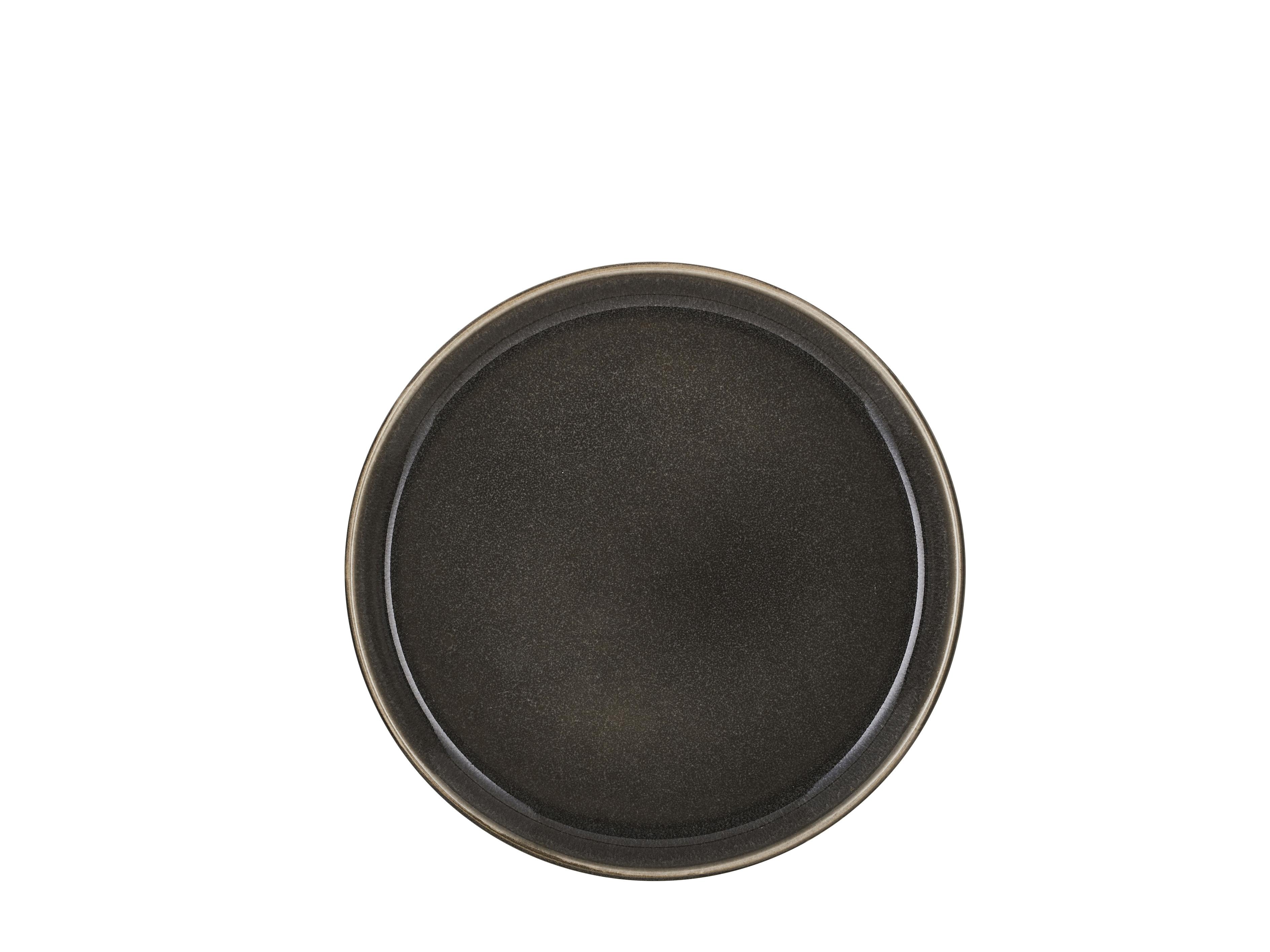 Bitz Gastro frokosttallerken, Ø21 cm, sort/grøn