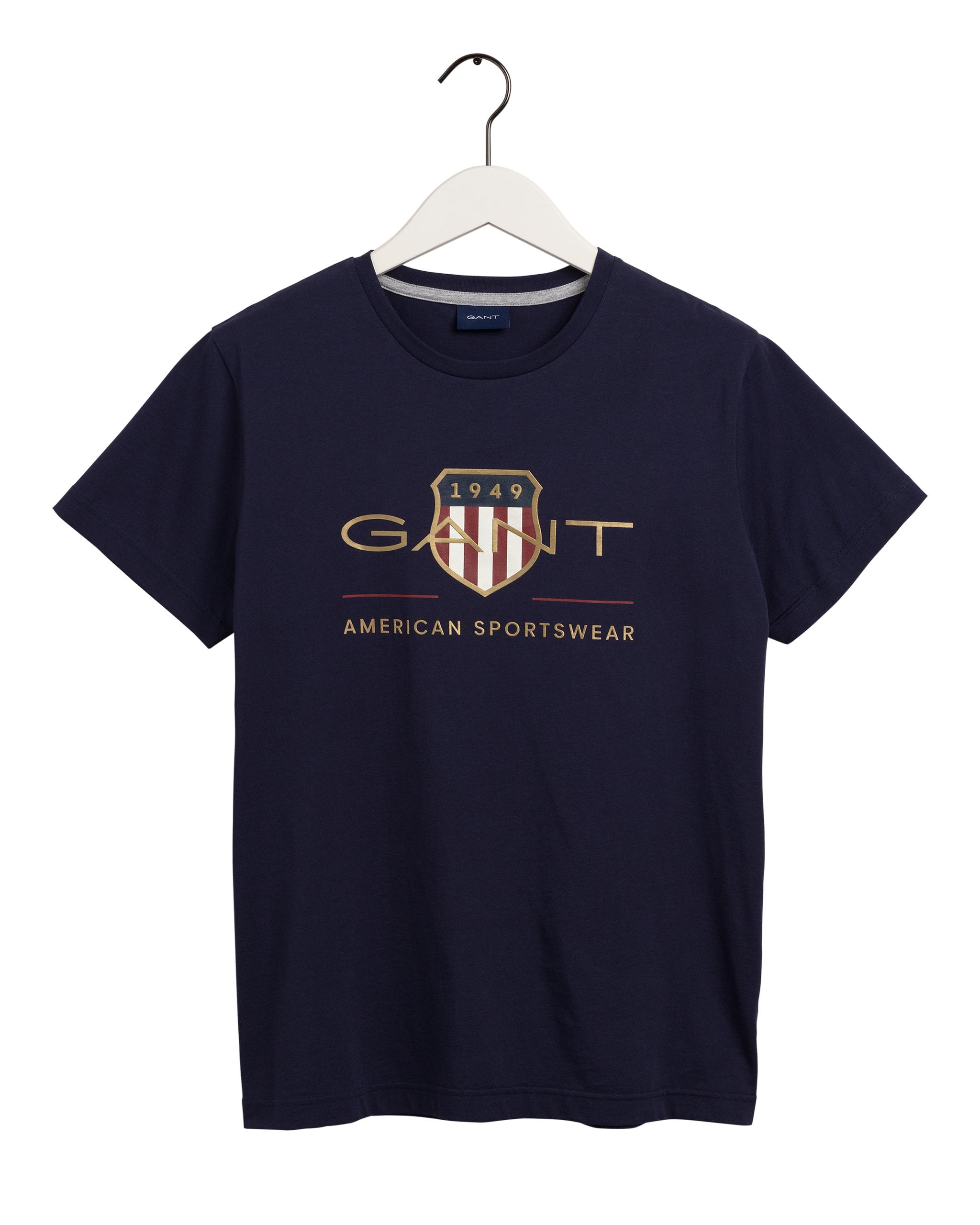 Gant Archive Shield t-shirt, evening blue, small