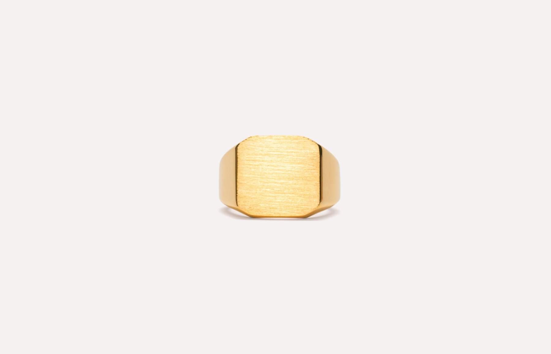 Frederik IX Studios Octagon signet ring