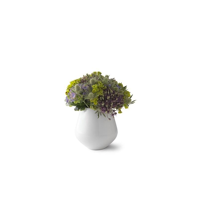 Royal Copenhagen Hvid Riflet vase, 15 cm