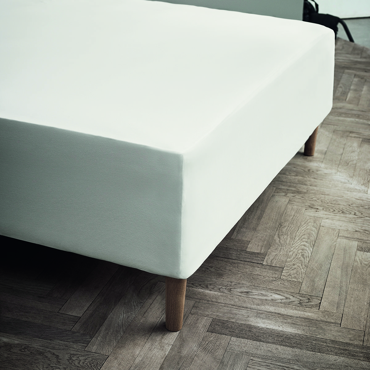 Juna Jersey stræklagen, 45x90x200 cm, off-white