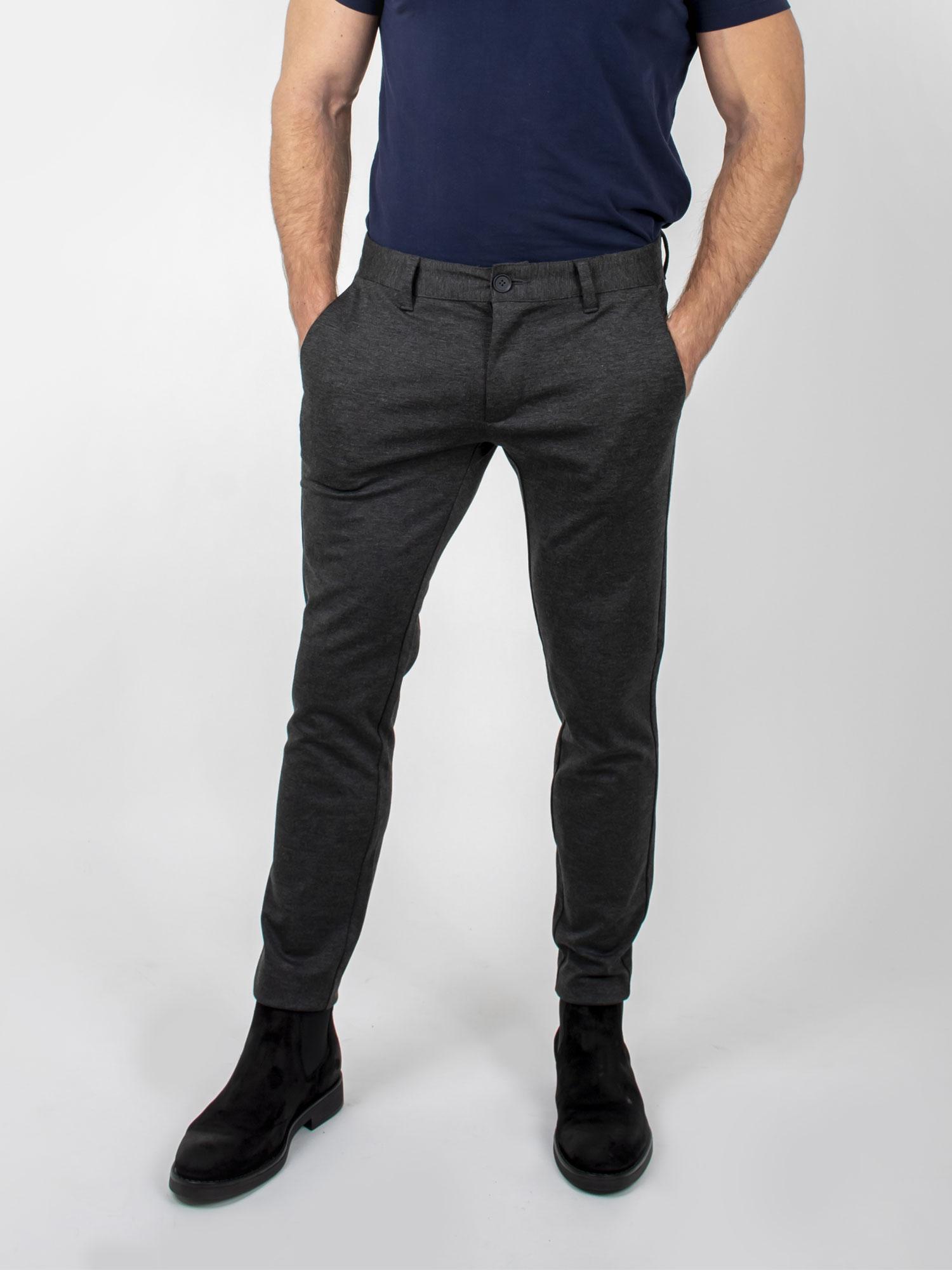 Performance Pants, Only & Sons, Mark chinos, dark grey melange, 30/30