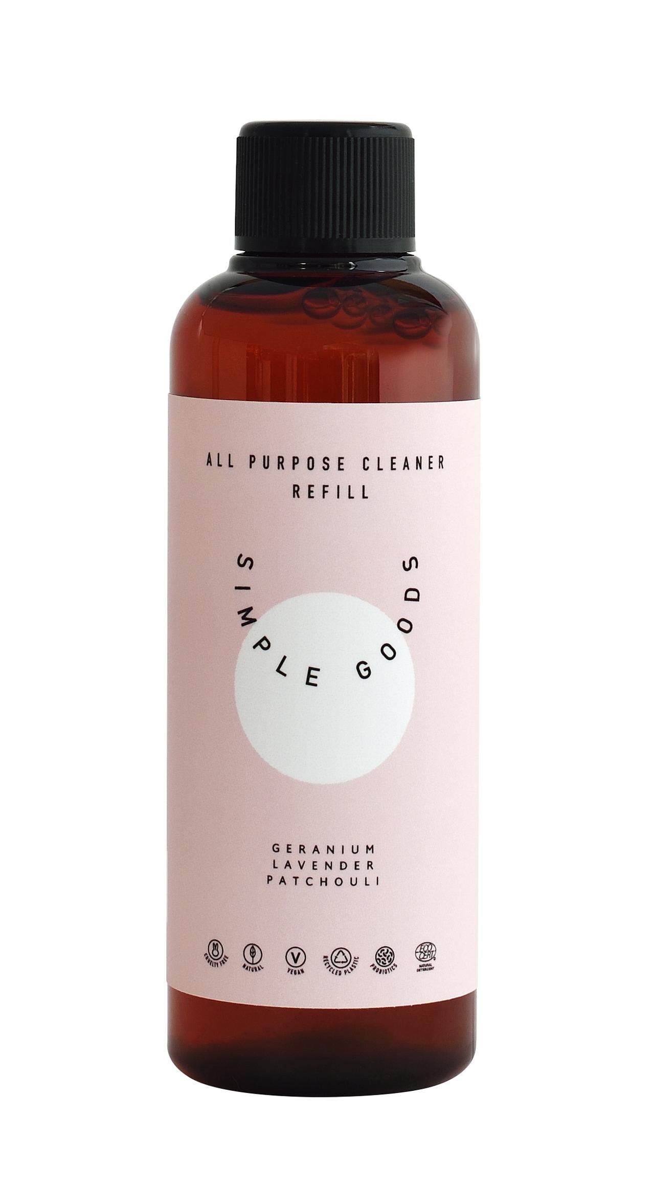Simple Goods All Purpose rengøringsmiddel, geranium/lavendel/patchouli, refill
