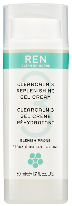 REN Skincare Clear Calm 3 Replenshing Gel Cream, 50 ml