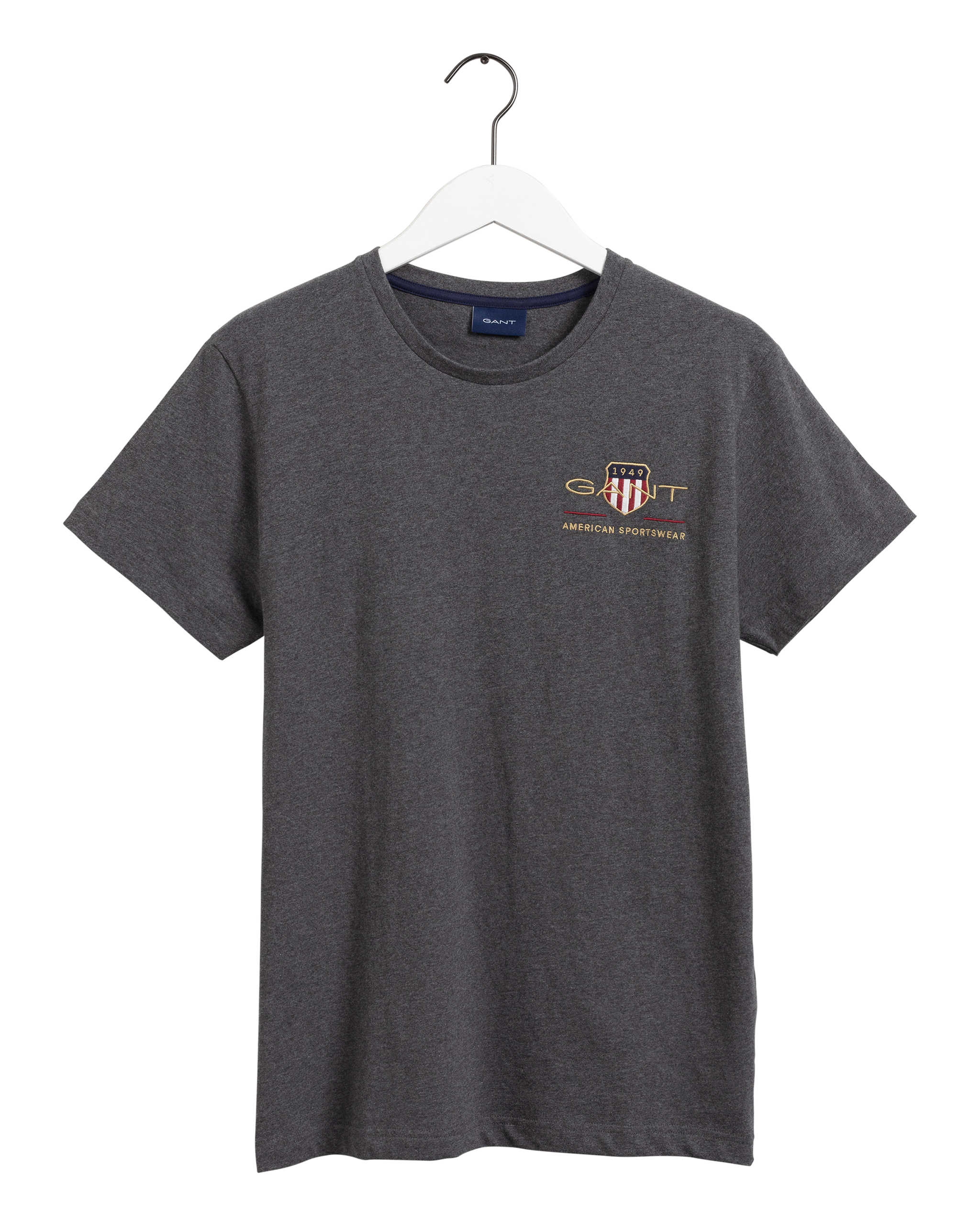 Gant Archive Shield Broderi T-shirt, Antracit Melange, XXL