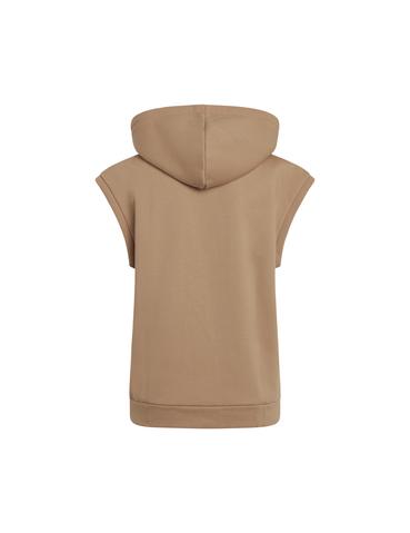 Mads Nørgaard Eco Bold Sweat Tempest ærmeløs hoodie, warm beige, x-small