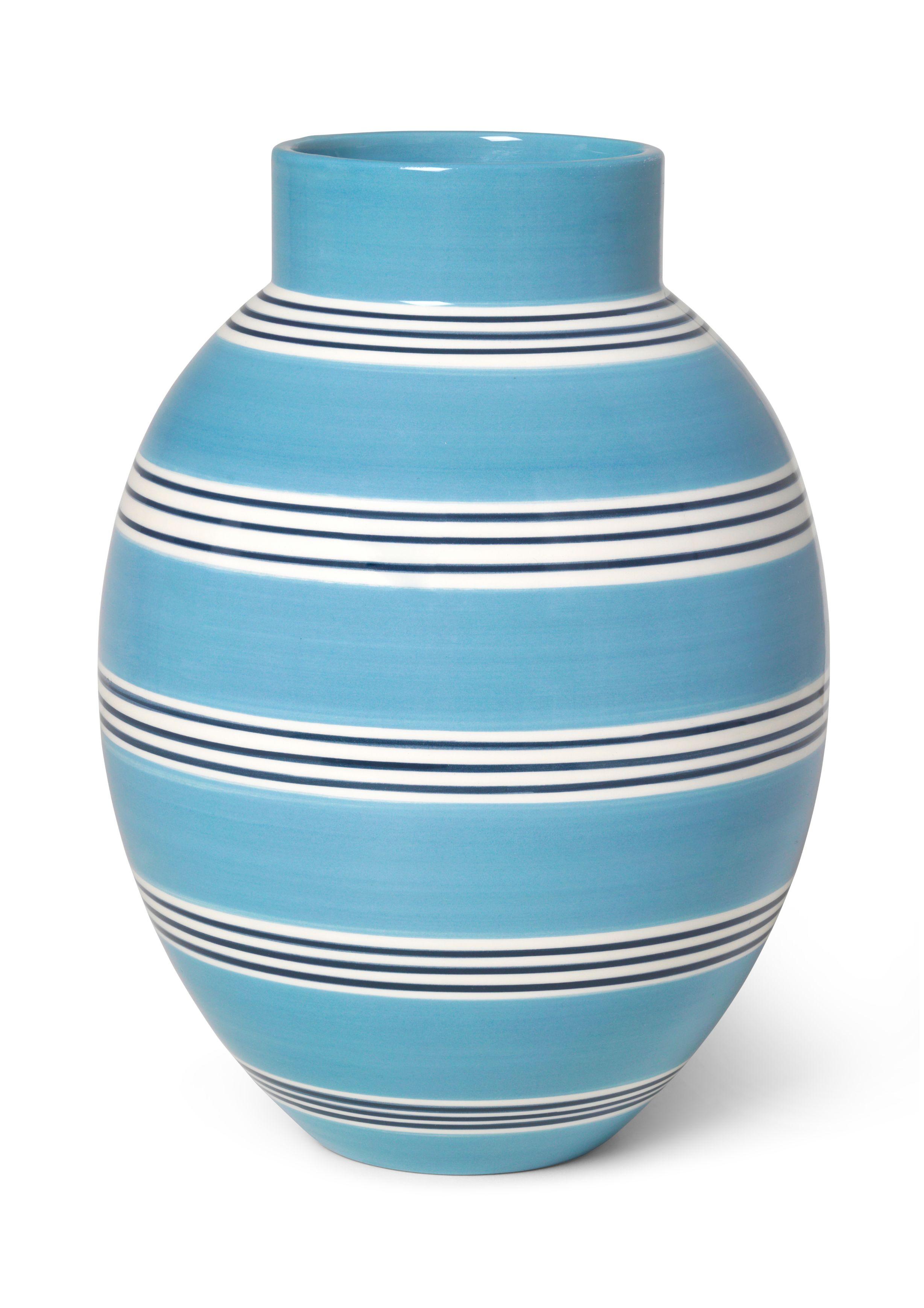 Kähler Omaggio Nuovo vase, H30 cm, mellem blå