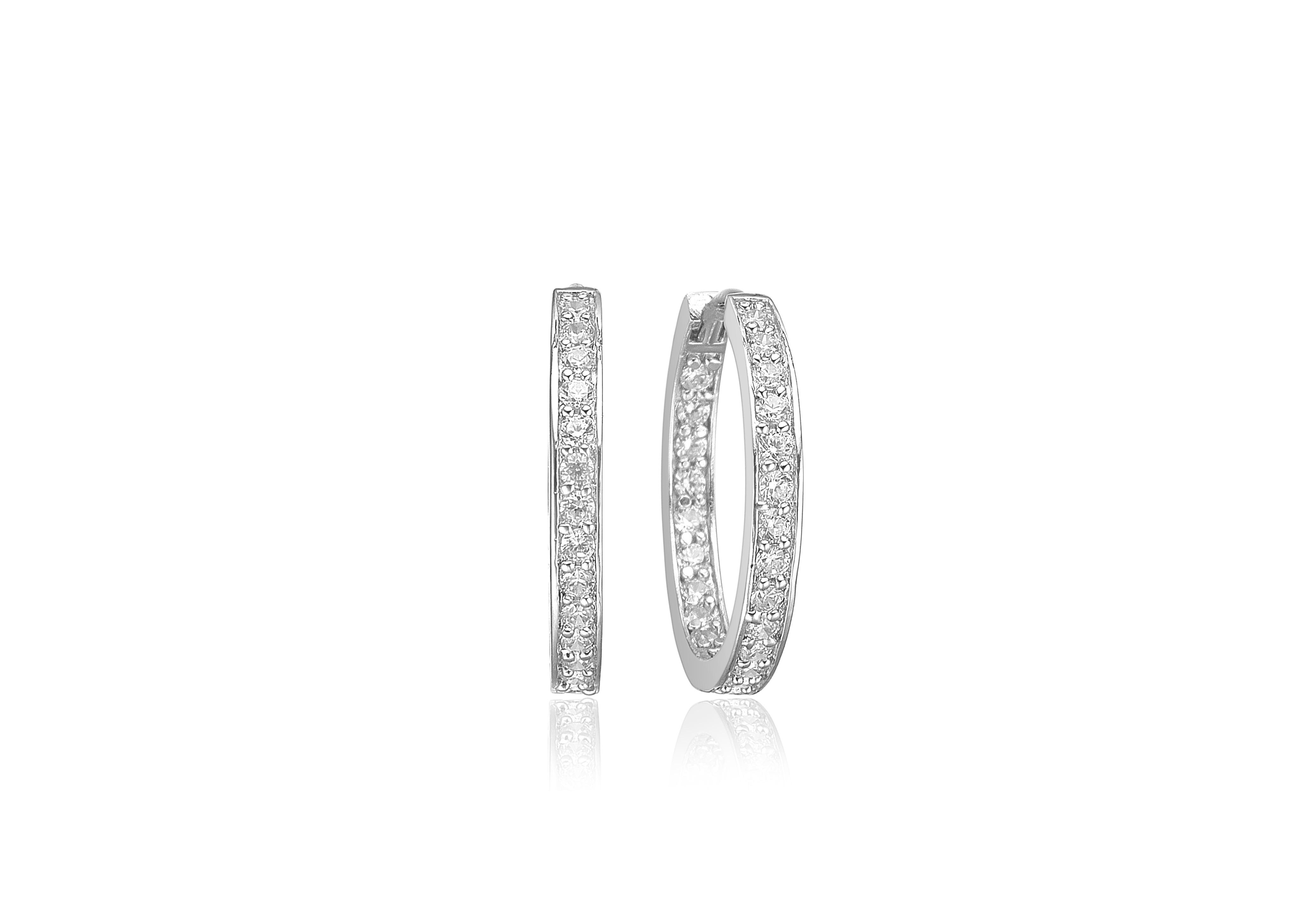 Sif Jakobs Jewellery Corte øreringe, sølv/hvid