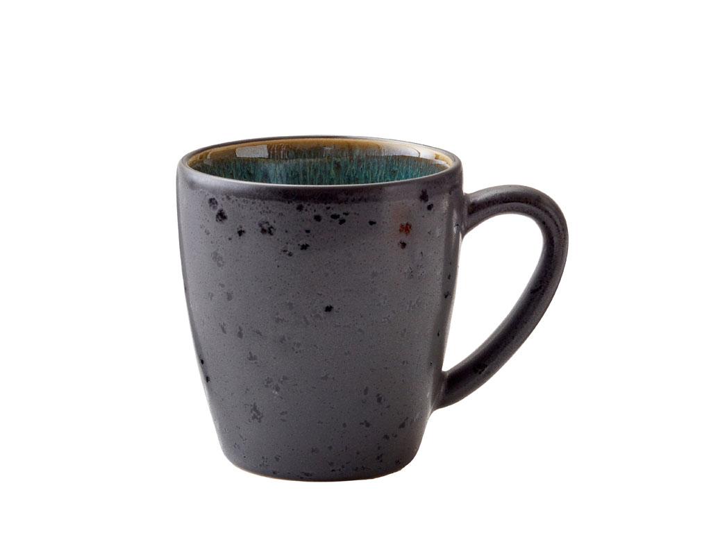 Bitz krus, 190 ml, sort/grøn