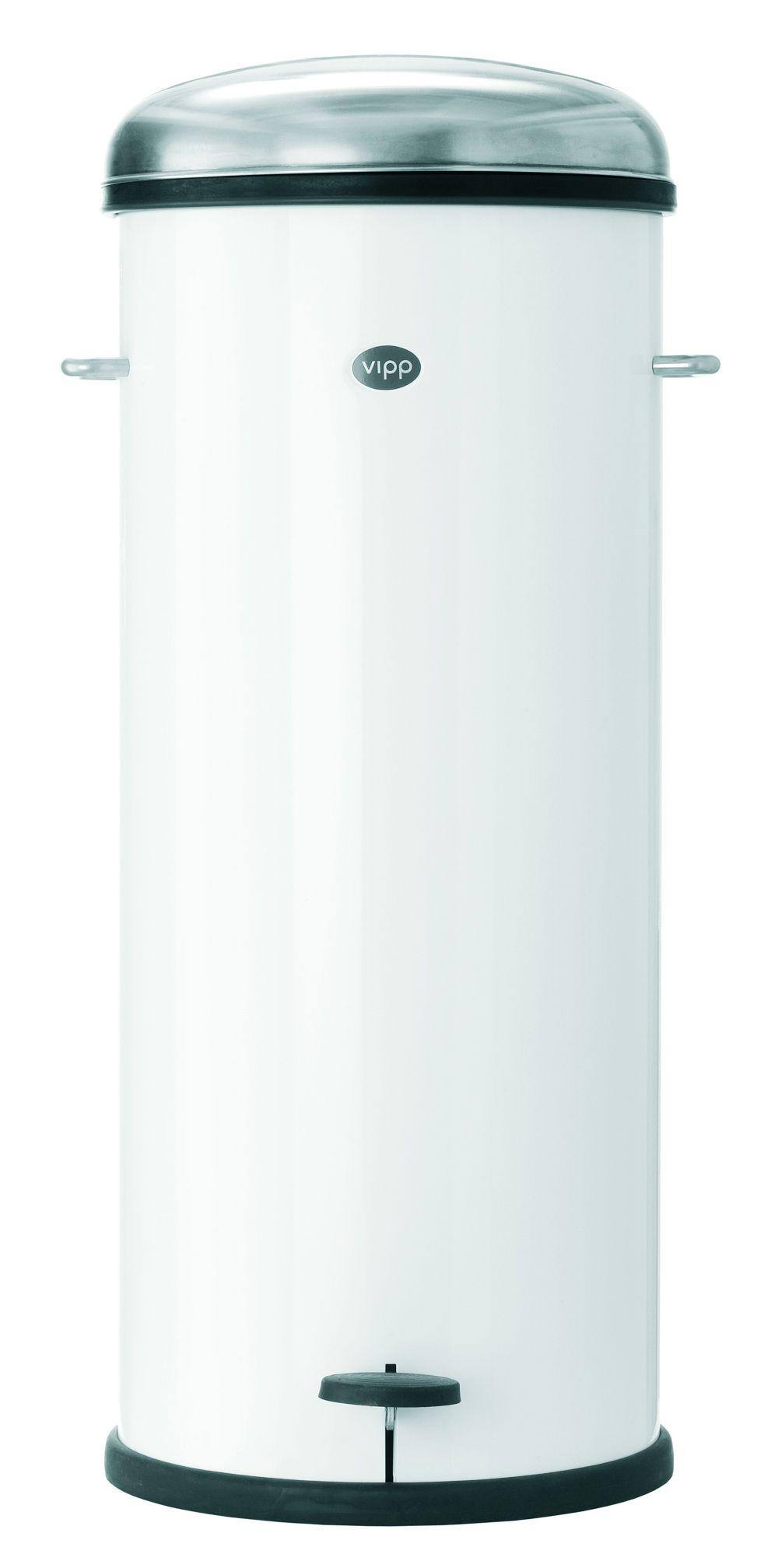 Vipp 17 pedalspand, 30 liter, hvid