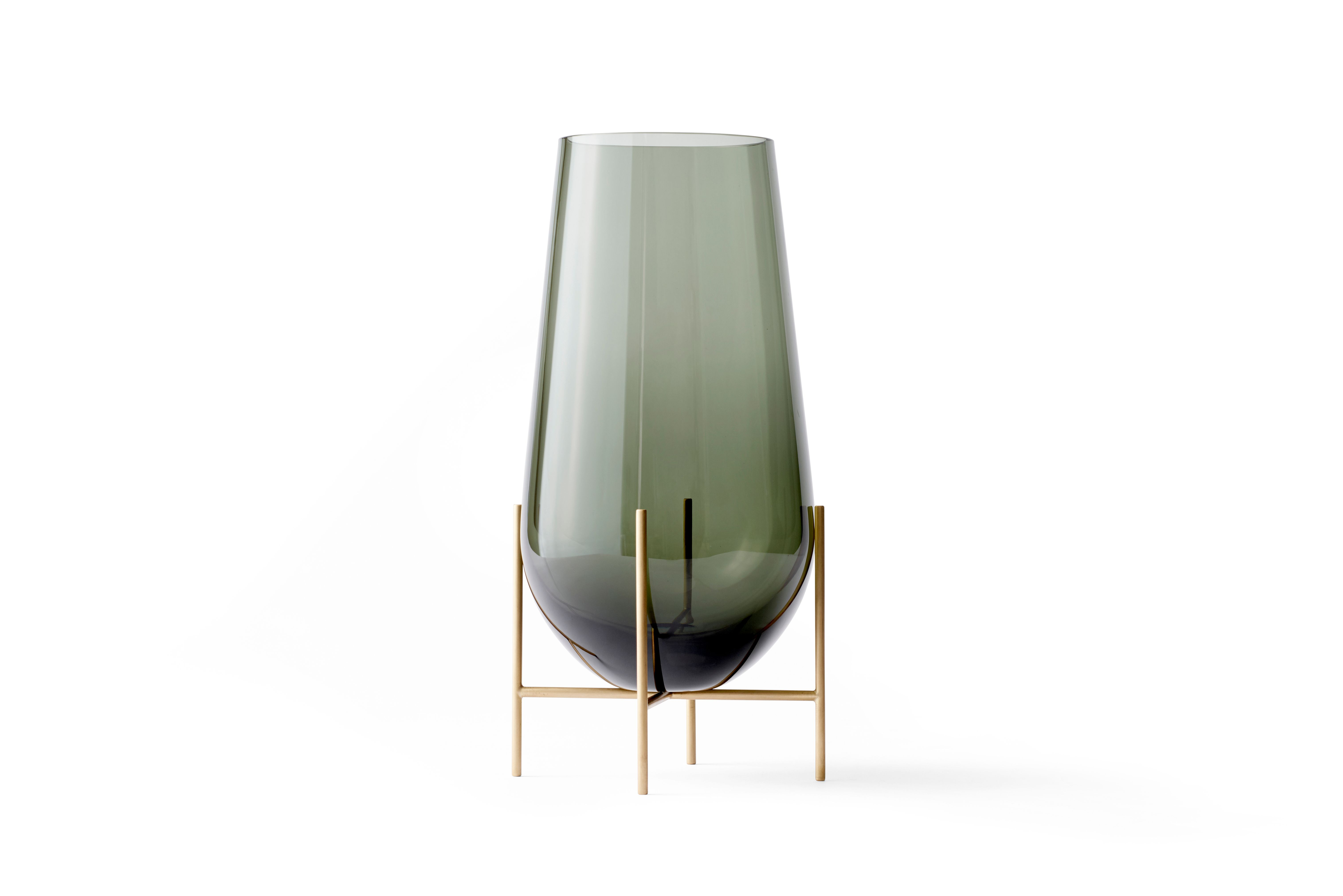 Menu Echasse vase, large, smoked